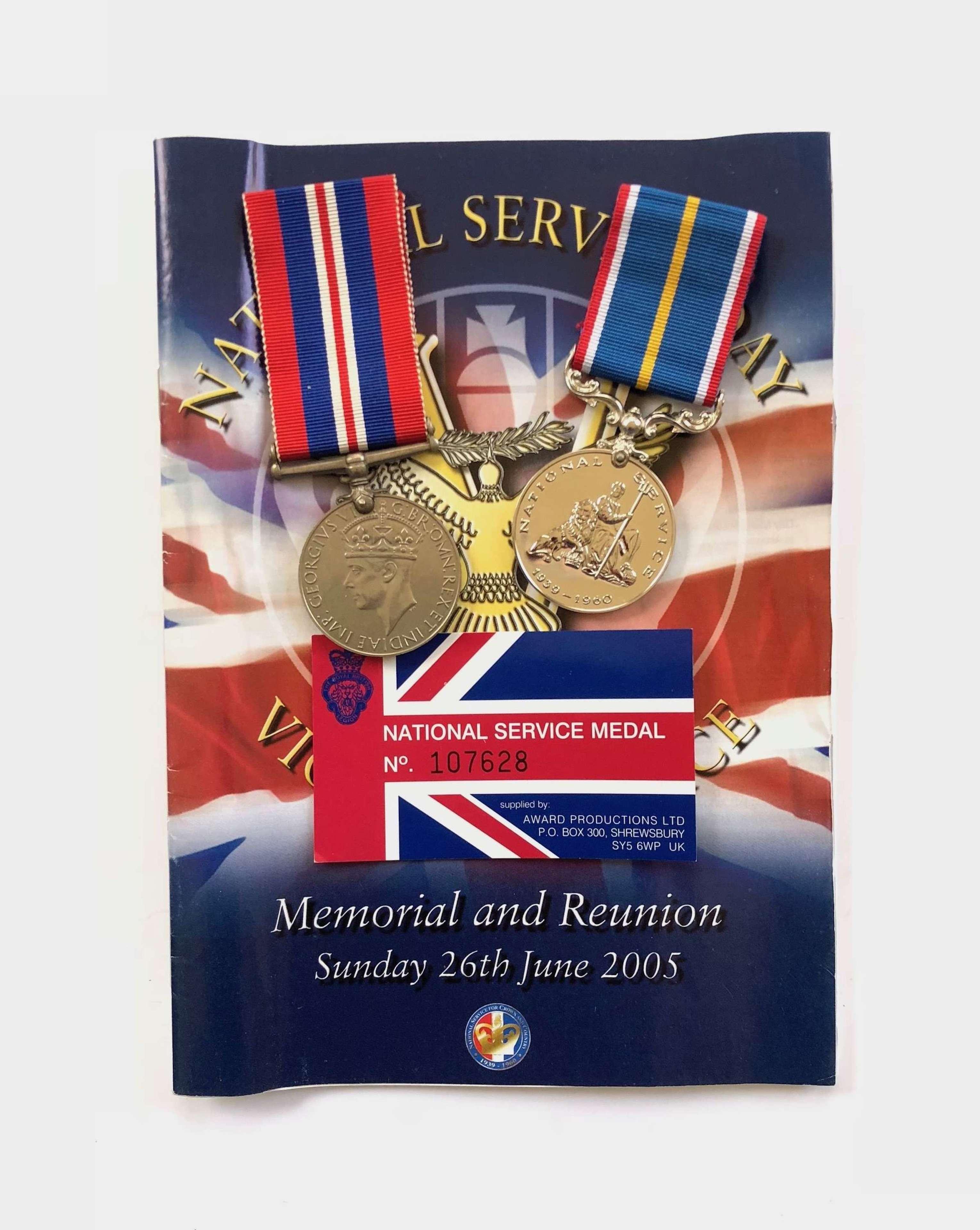 RAF WW2 / National Service Medal Pair.