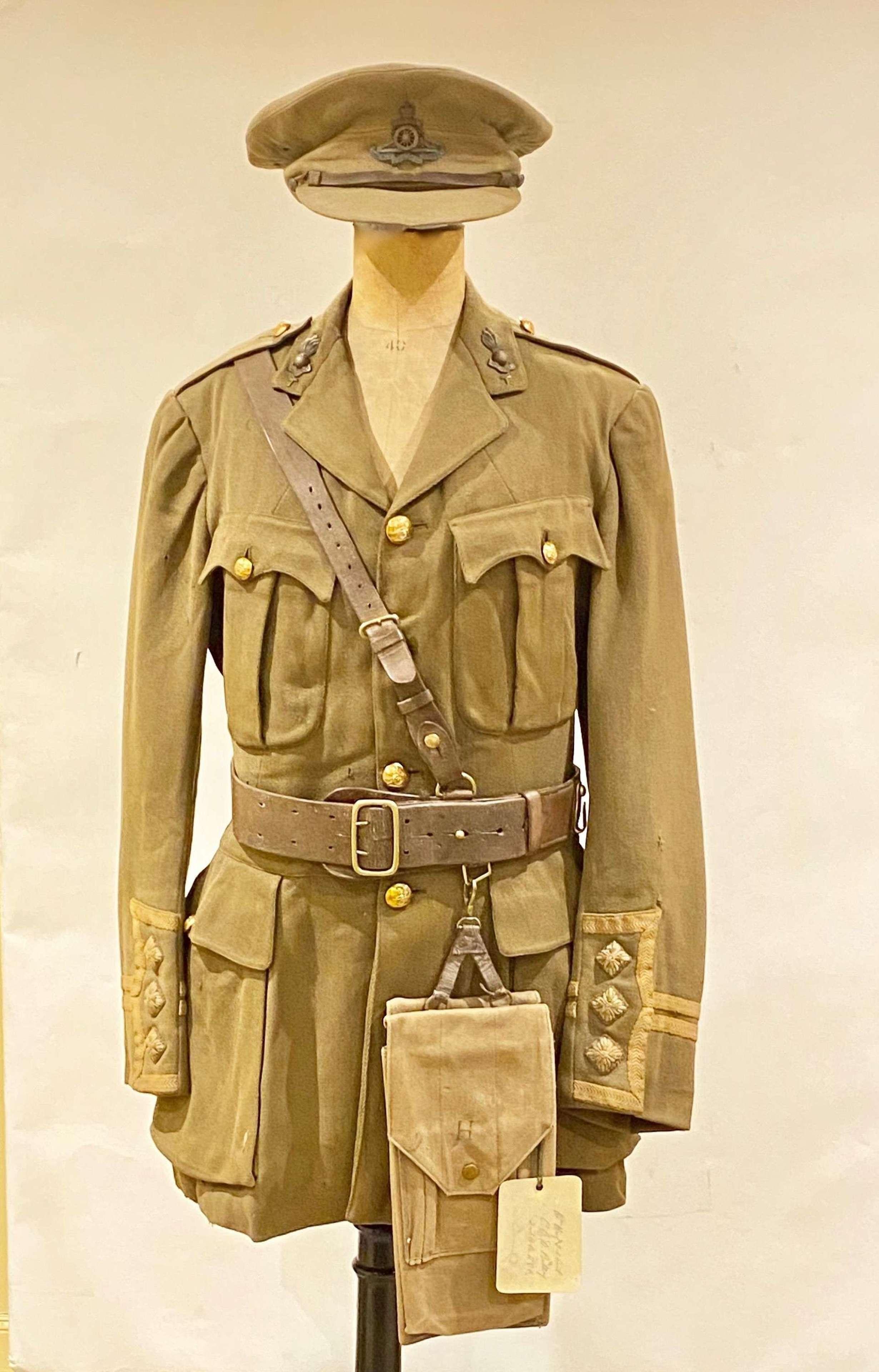 WW1 Scottish Royal Field Artillery Attributed Cap Uniform etc.