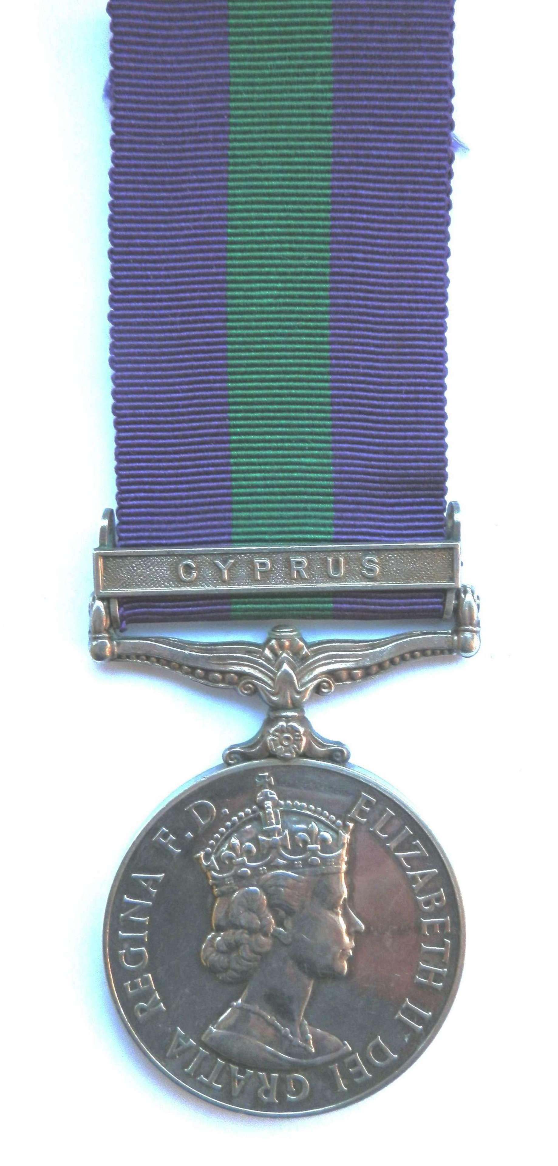 G.S.M. 1918-62. Corporal P. J. Mathews. Royal Berkshire Regiment.