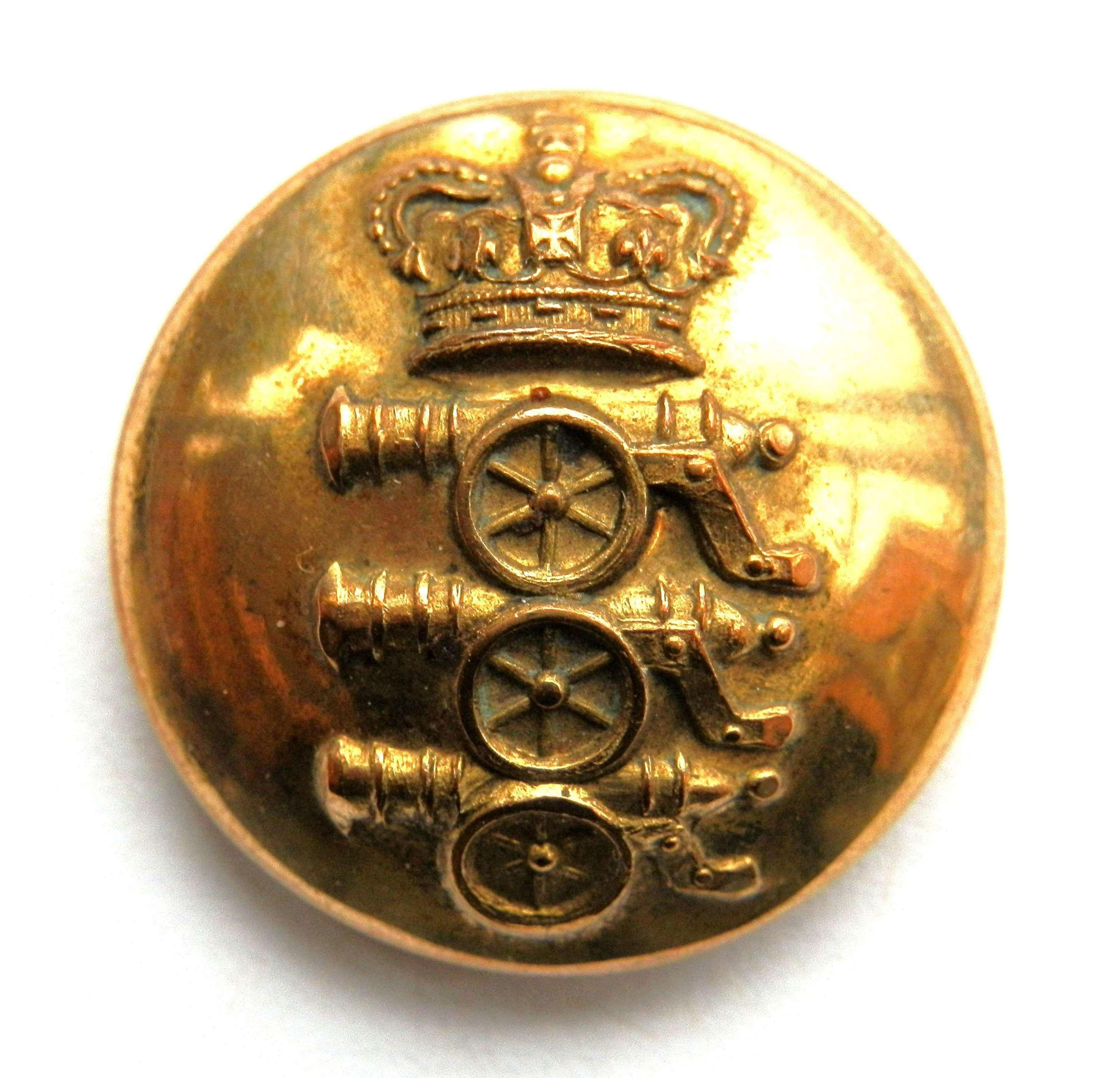 Royal Regiment of Artillery Button.