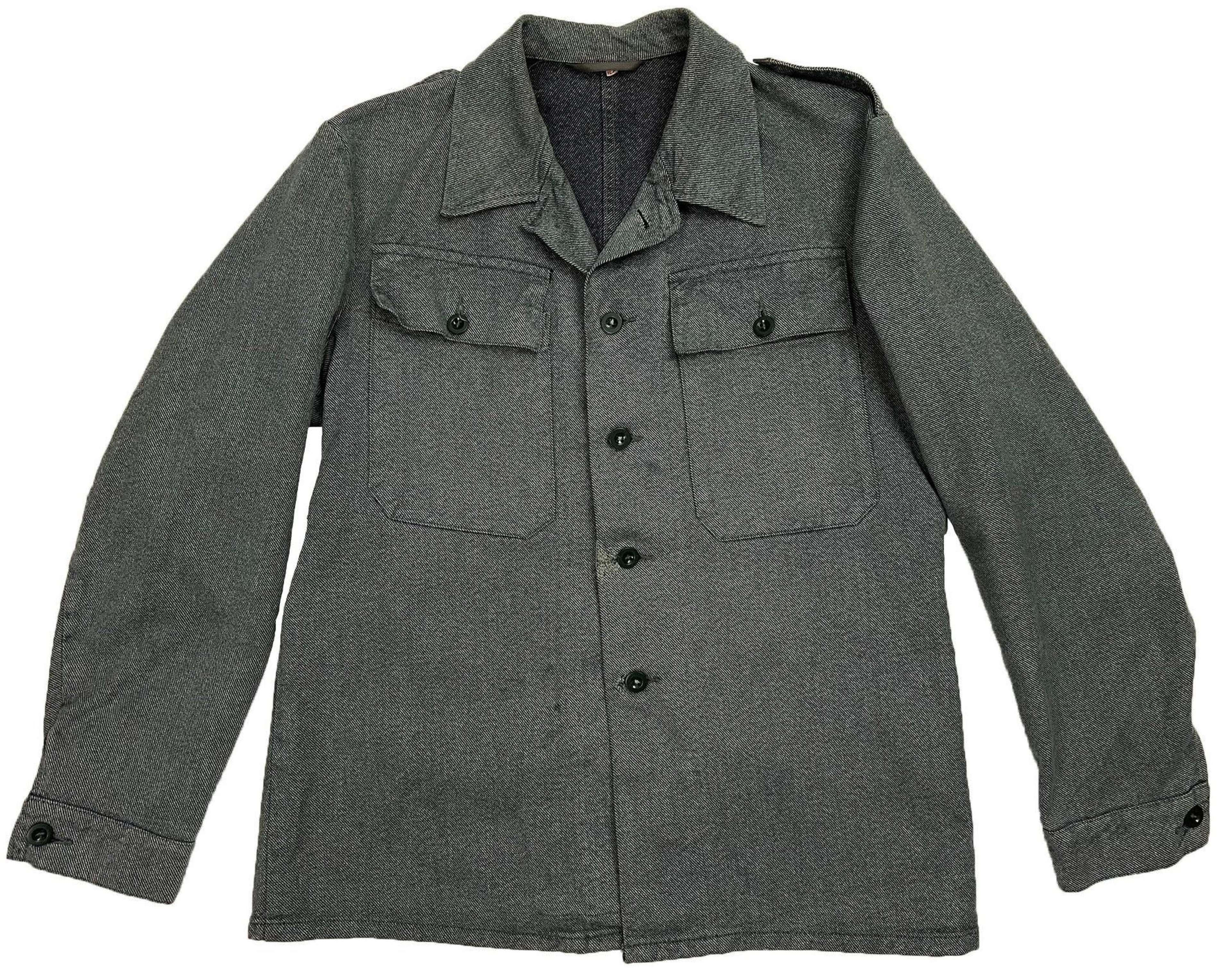 Original 1950s Swiss Denim Military Work Jacket