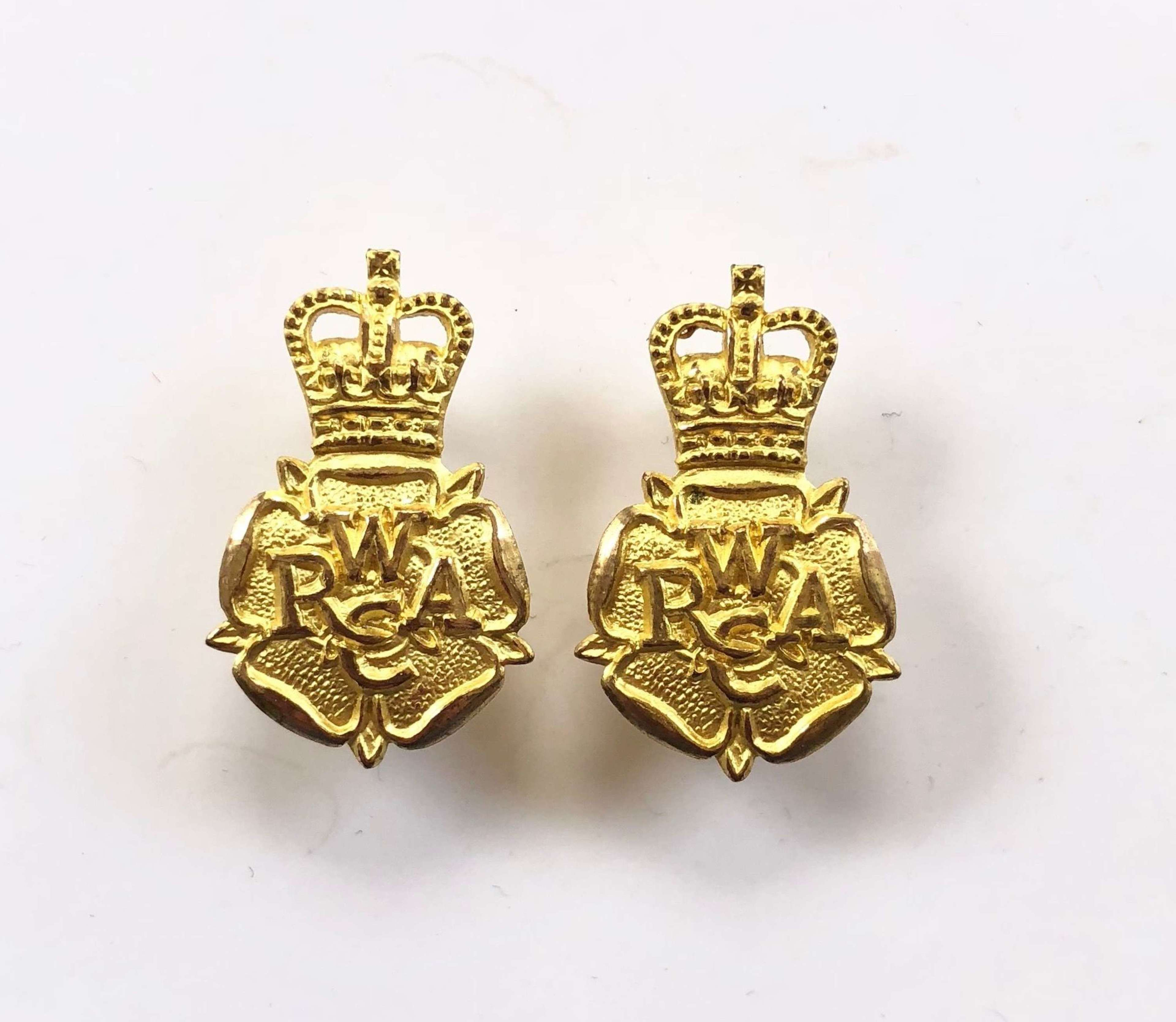 Women's Royal Army Corps  Officers Collar Badges