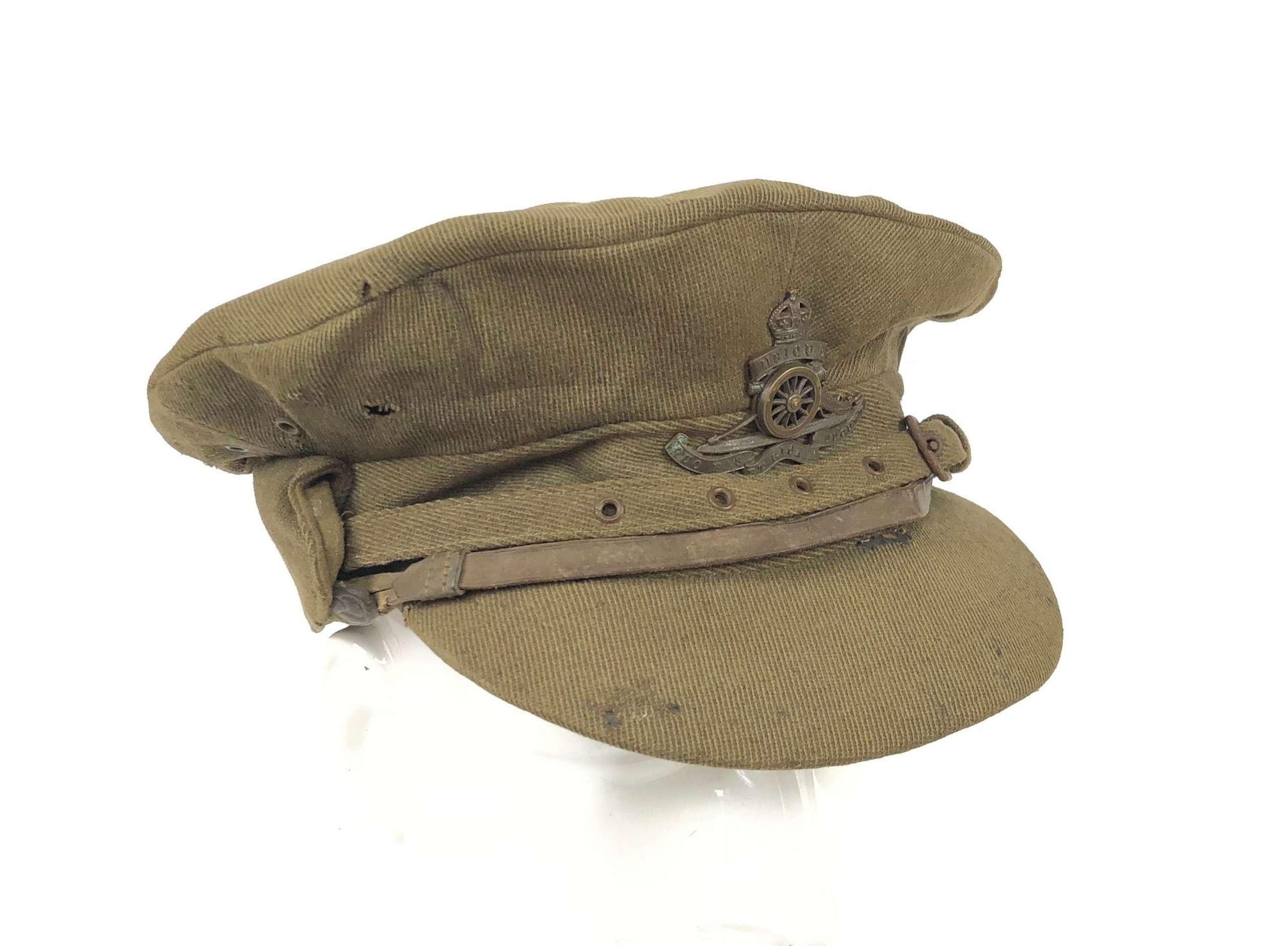 "WW1 Royal Artillery ""Cor Blimey"" Officer's Trench Cap."