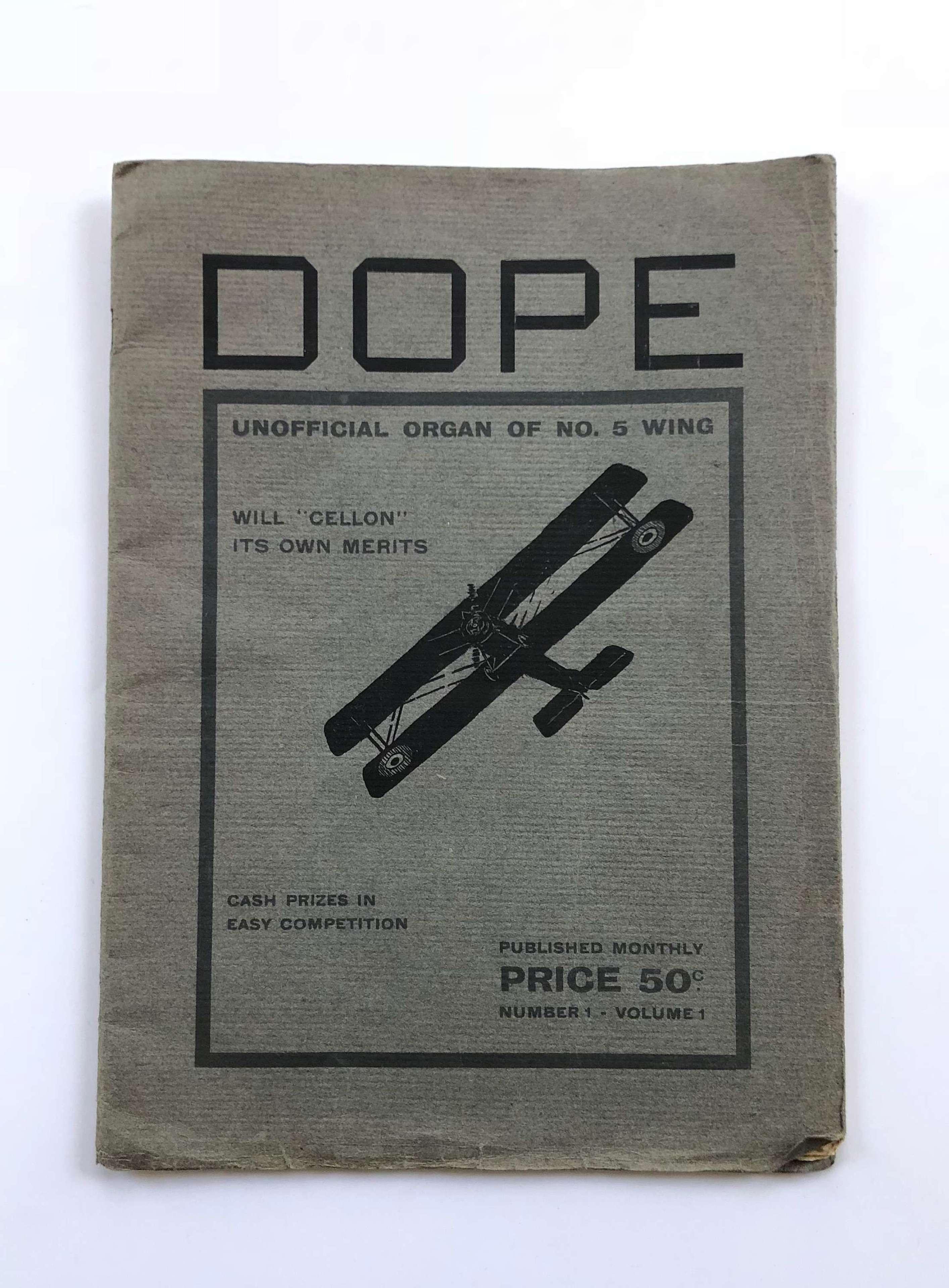 WW1 1917 RNAS Dope Magazine.