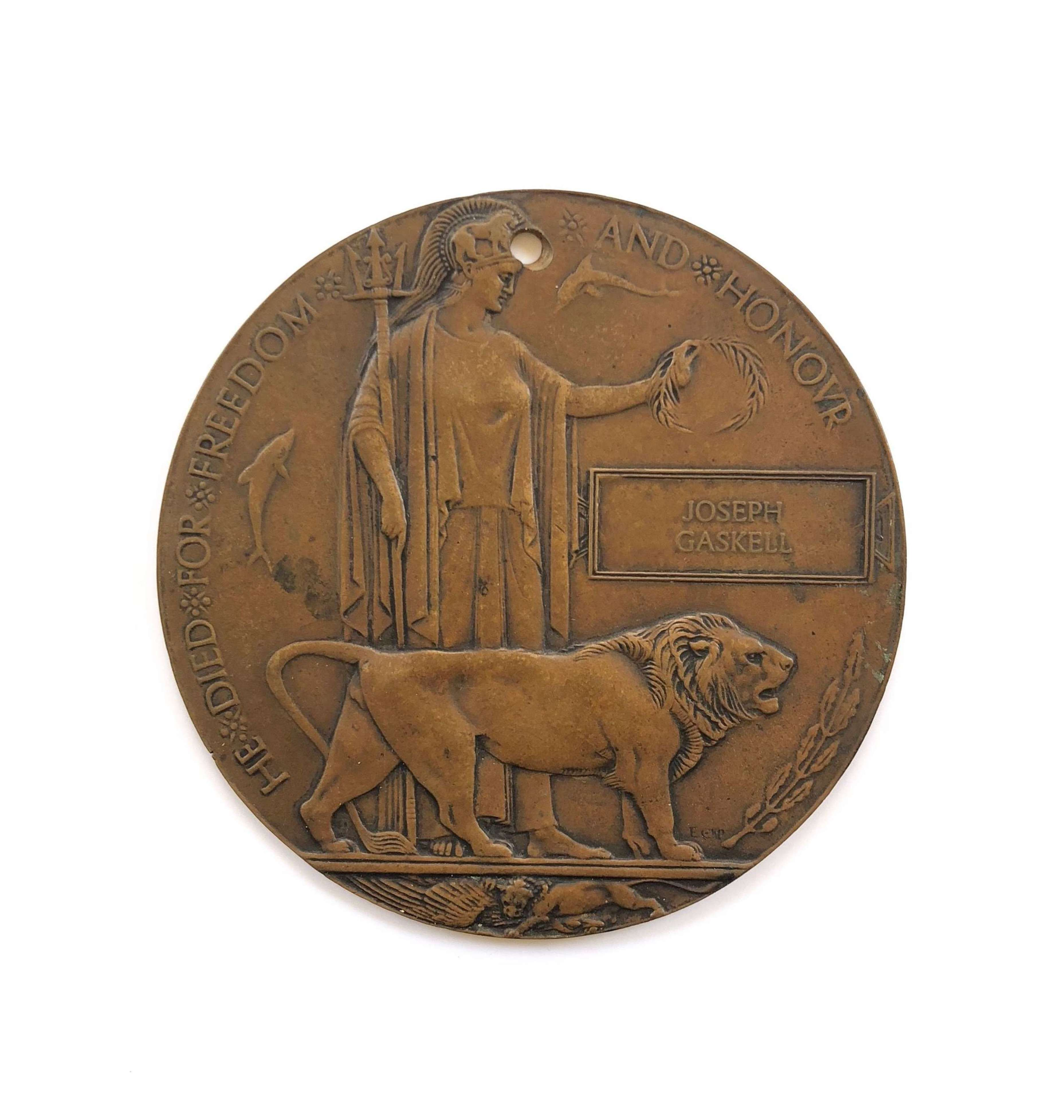 WW1 Bronze Memorial Plaque