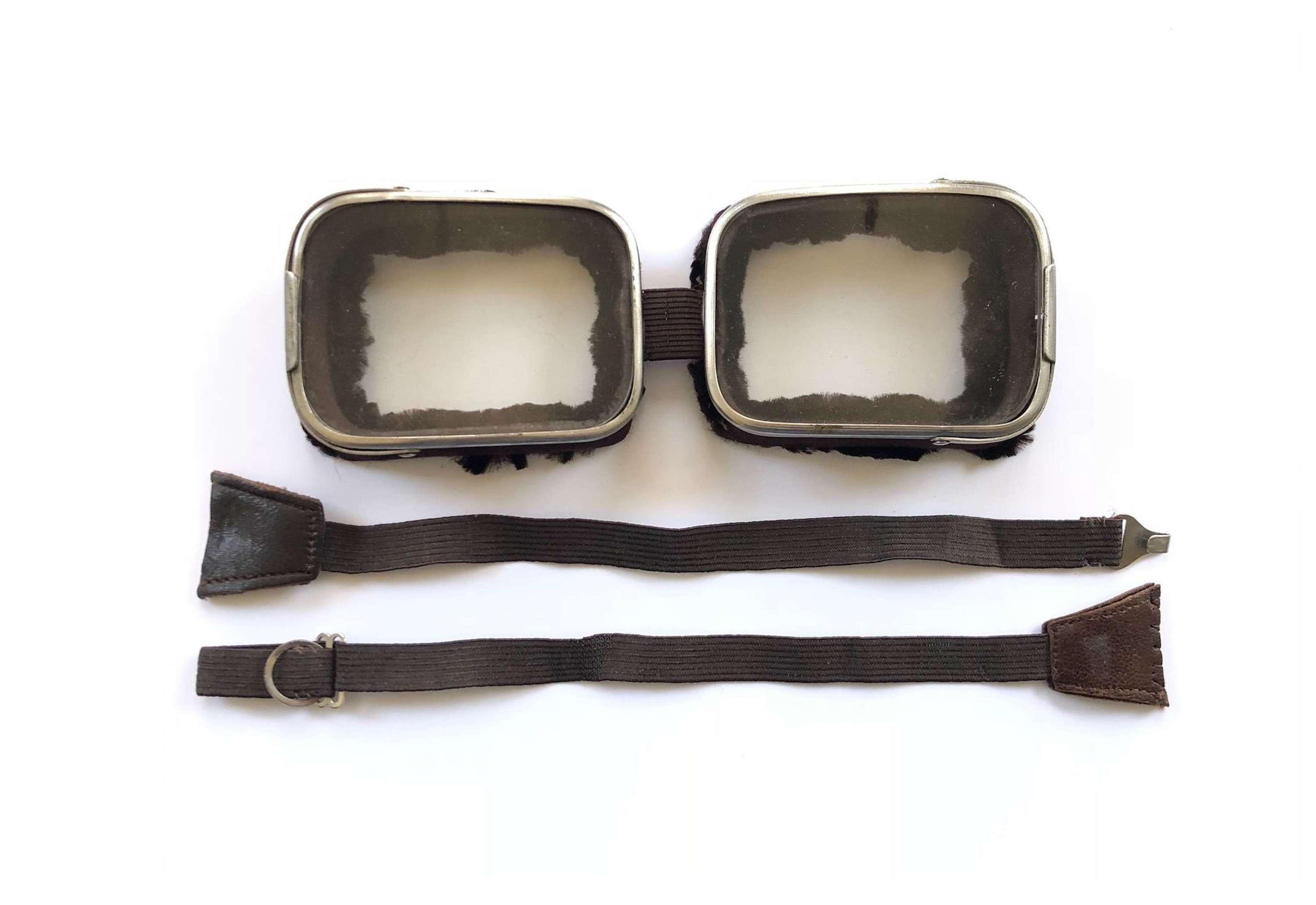 WW1 RFC RNAS RAF Style Flying Goggles.
