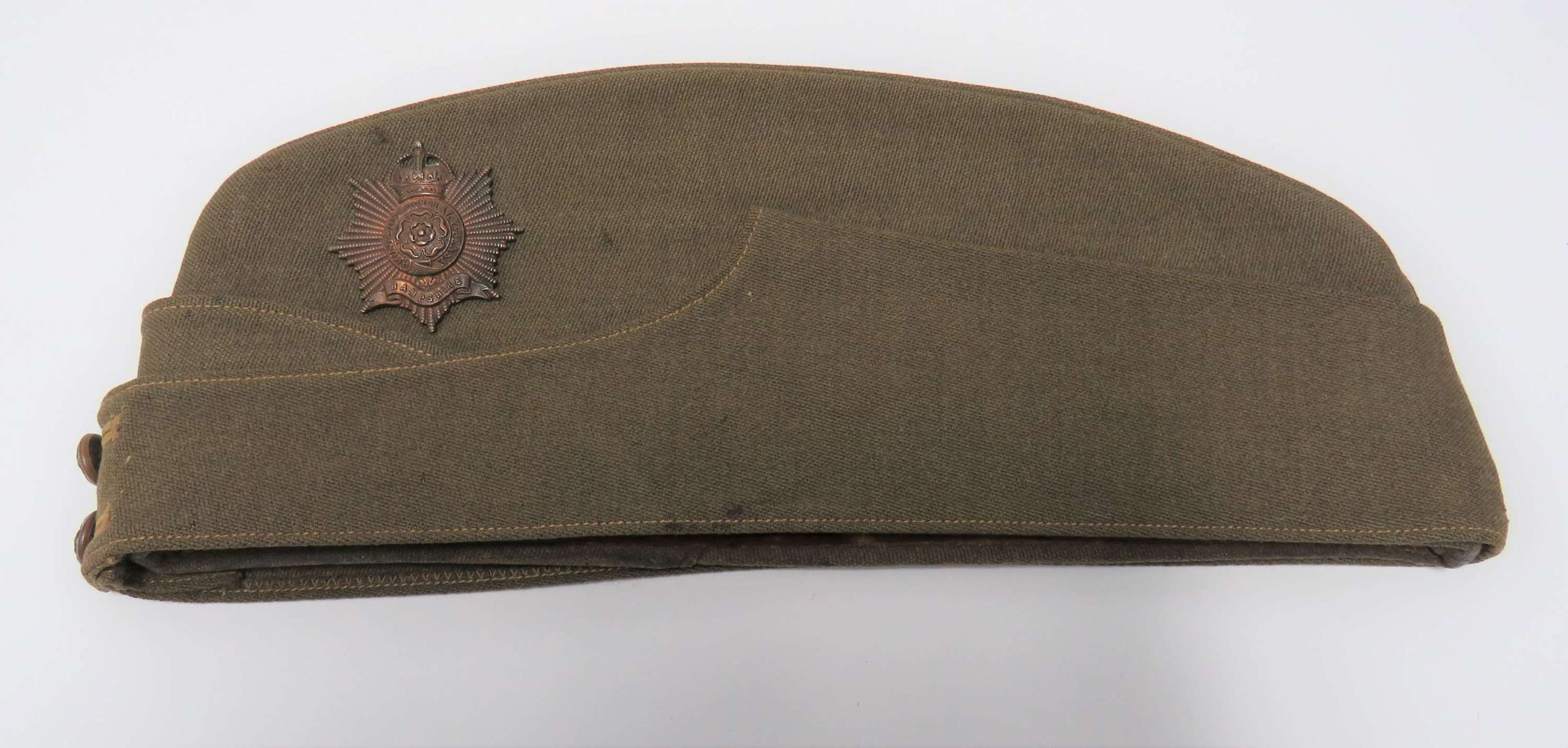 Hampshire Regiment Officer Field Service Cap