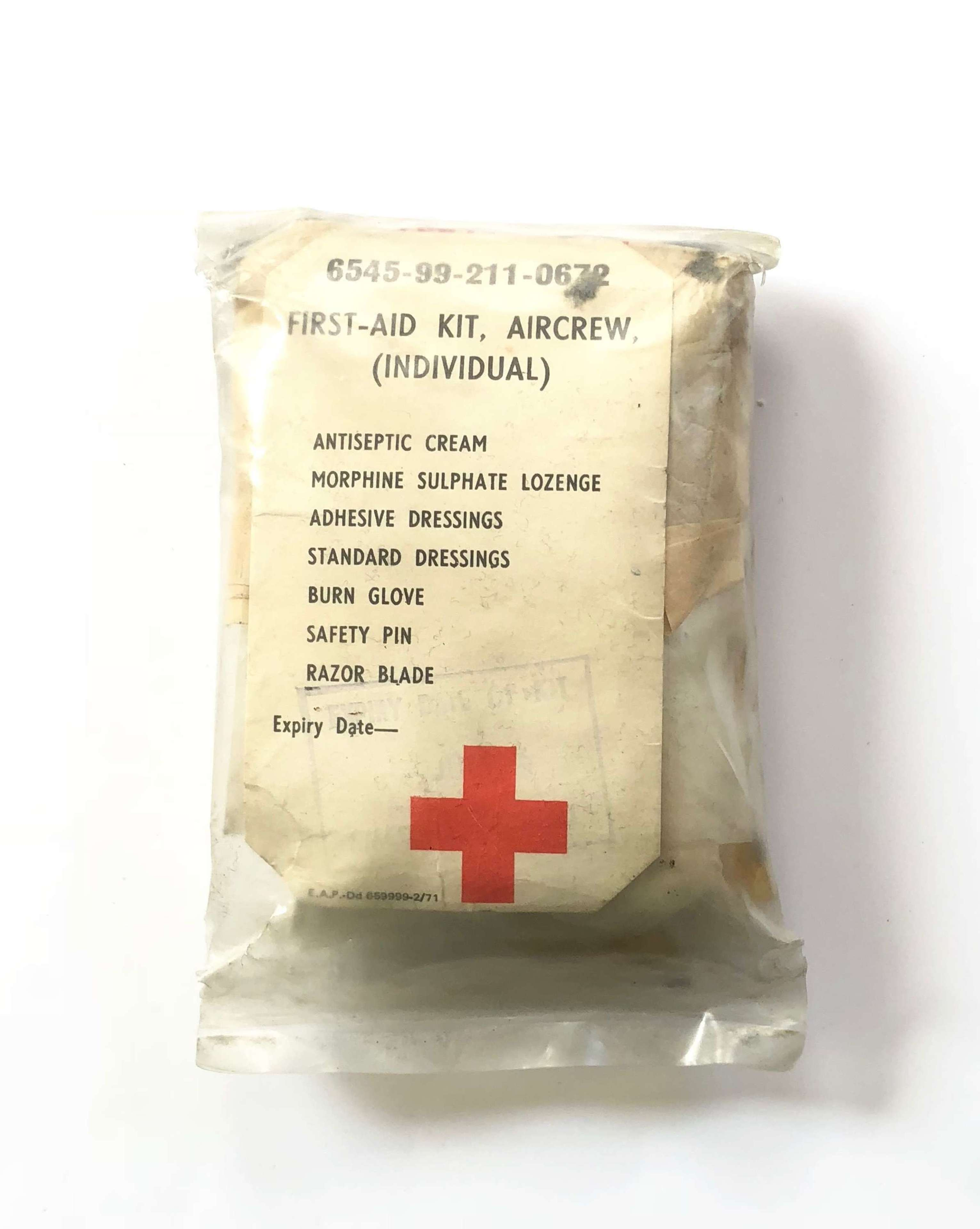 RAF Cold War Period Aircrew First Aid Kit.