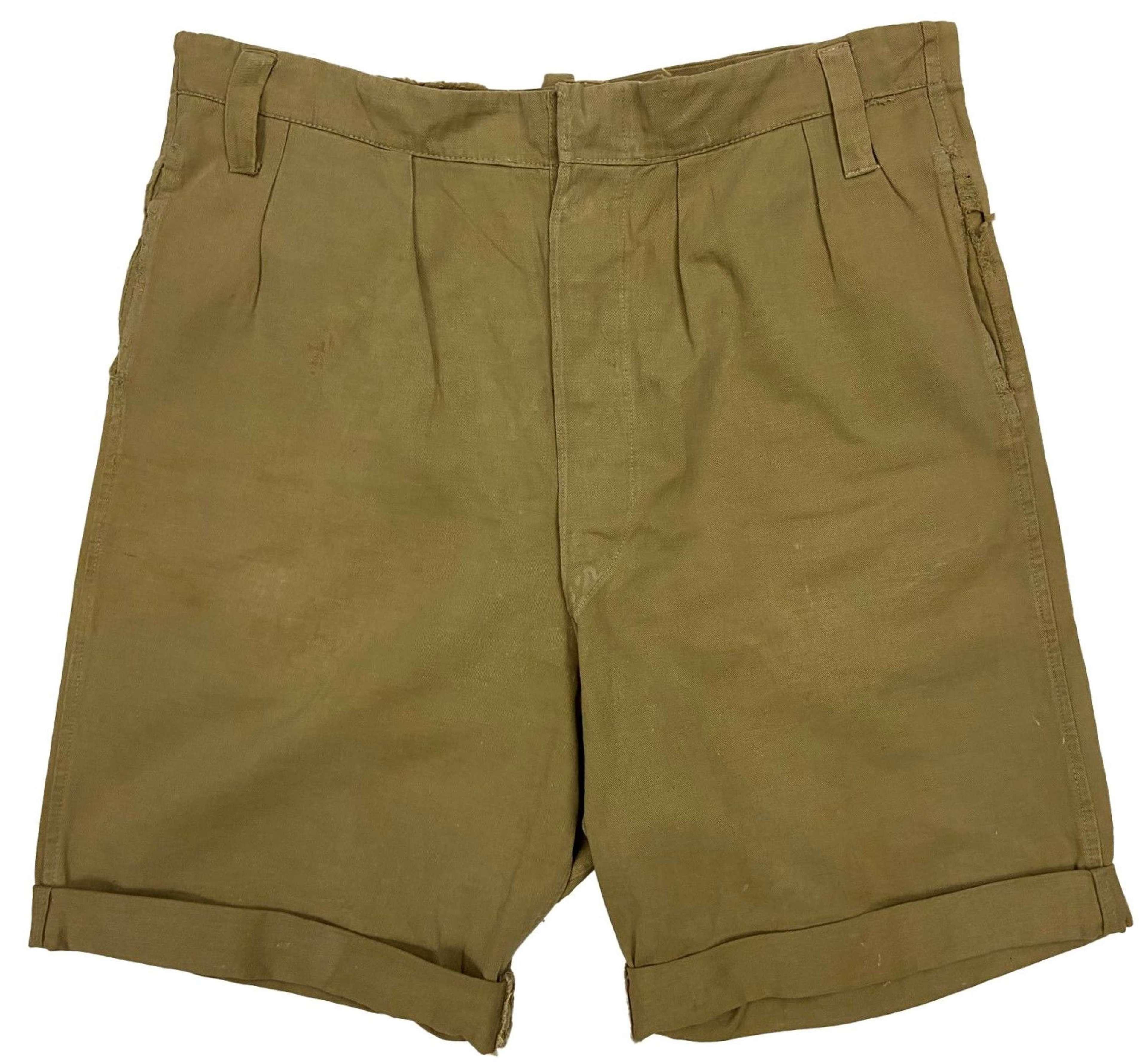 Original 1940s British Military Khaki Drill Shorts