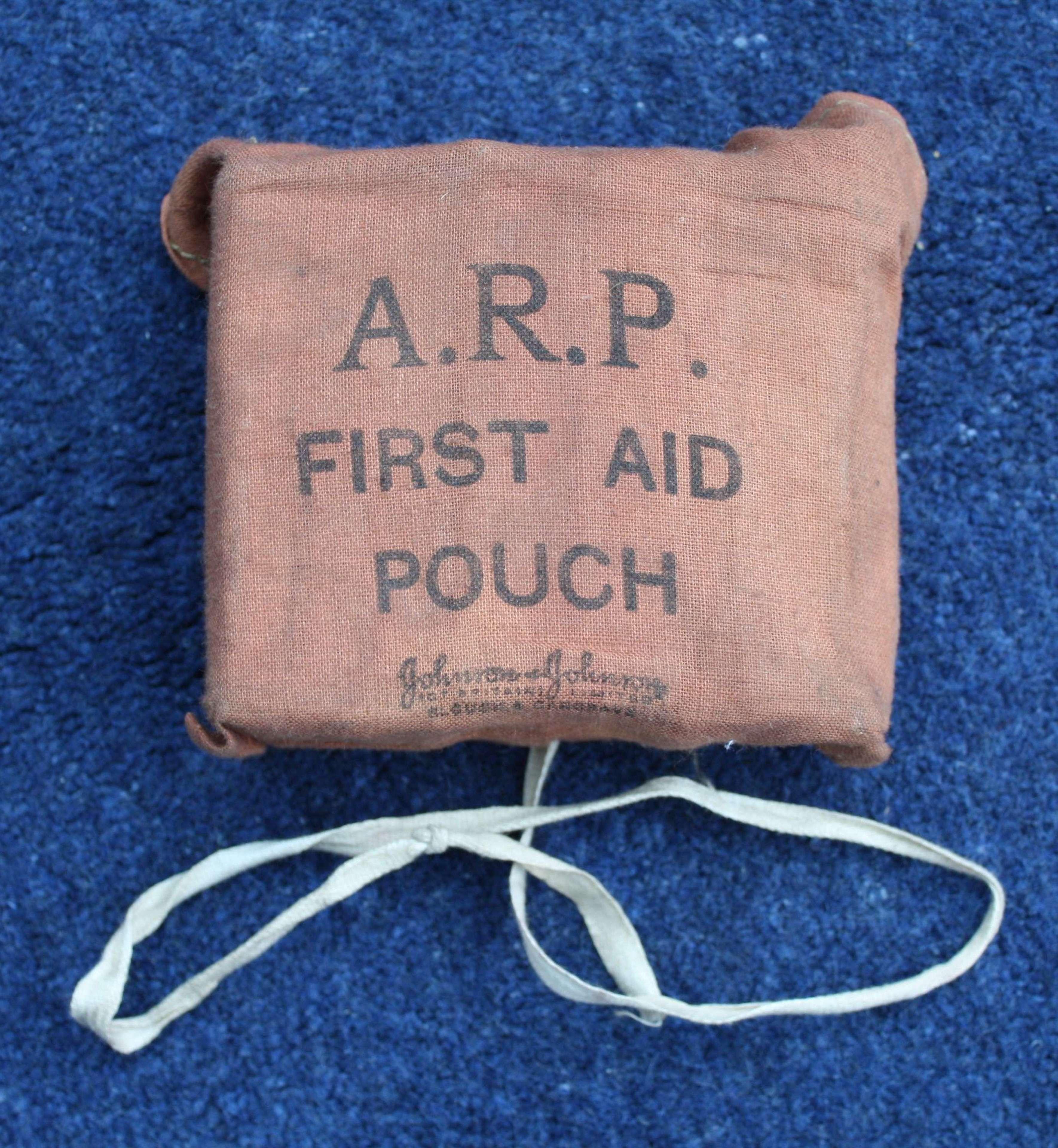 WW2 ARP Air Raid Precaution Small First Aid Pouch