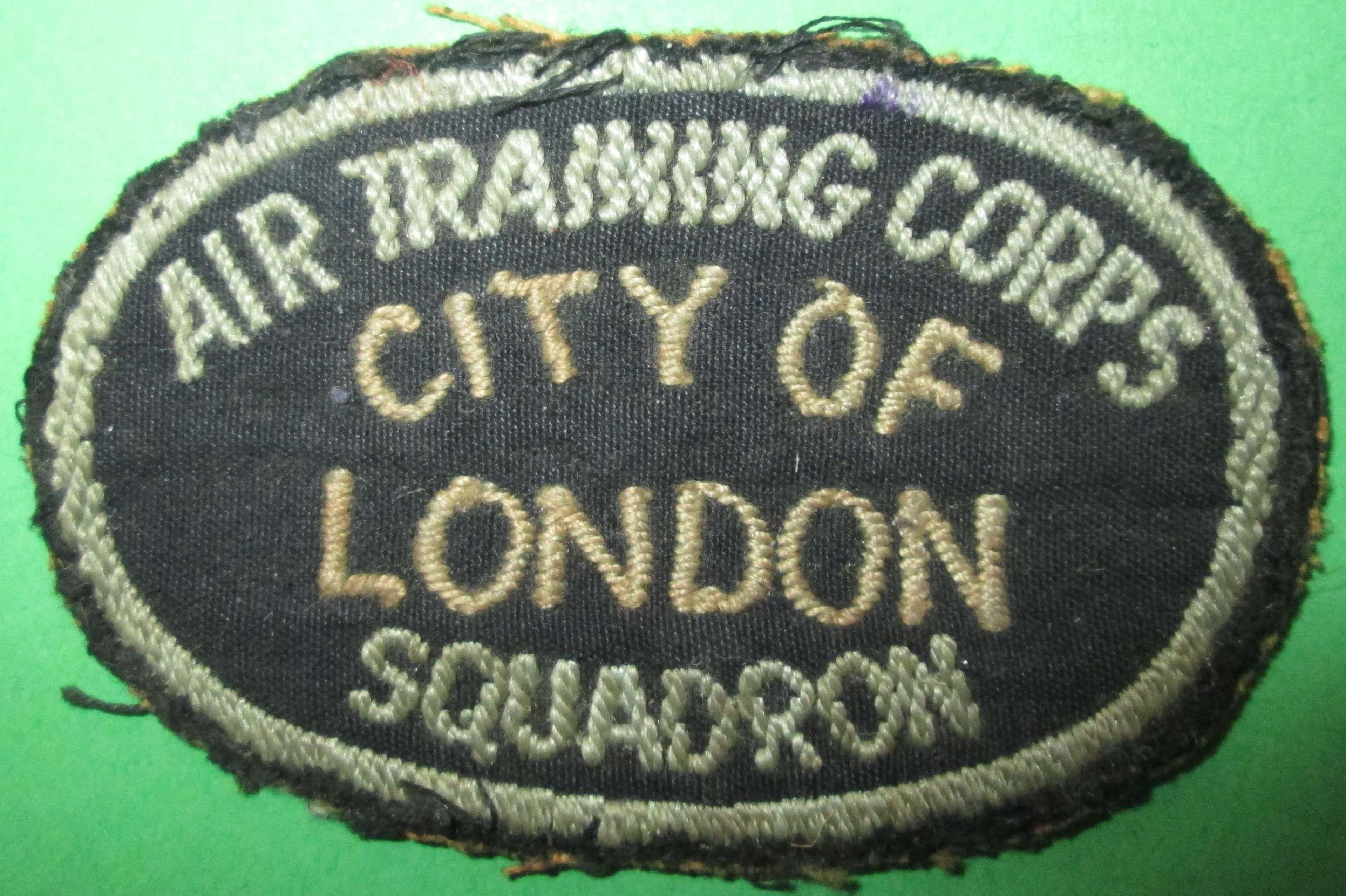 A WWII ATC CITY OF LONDON SQUADRON ARM PATCH