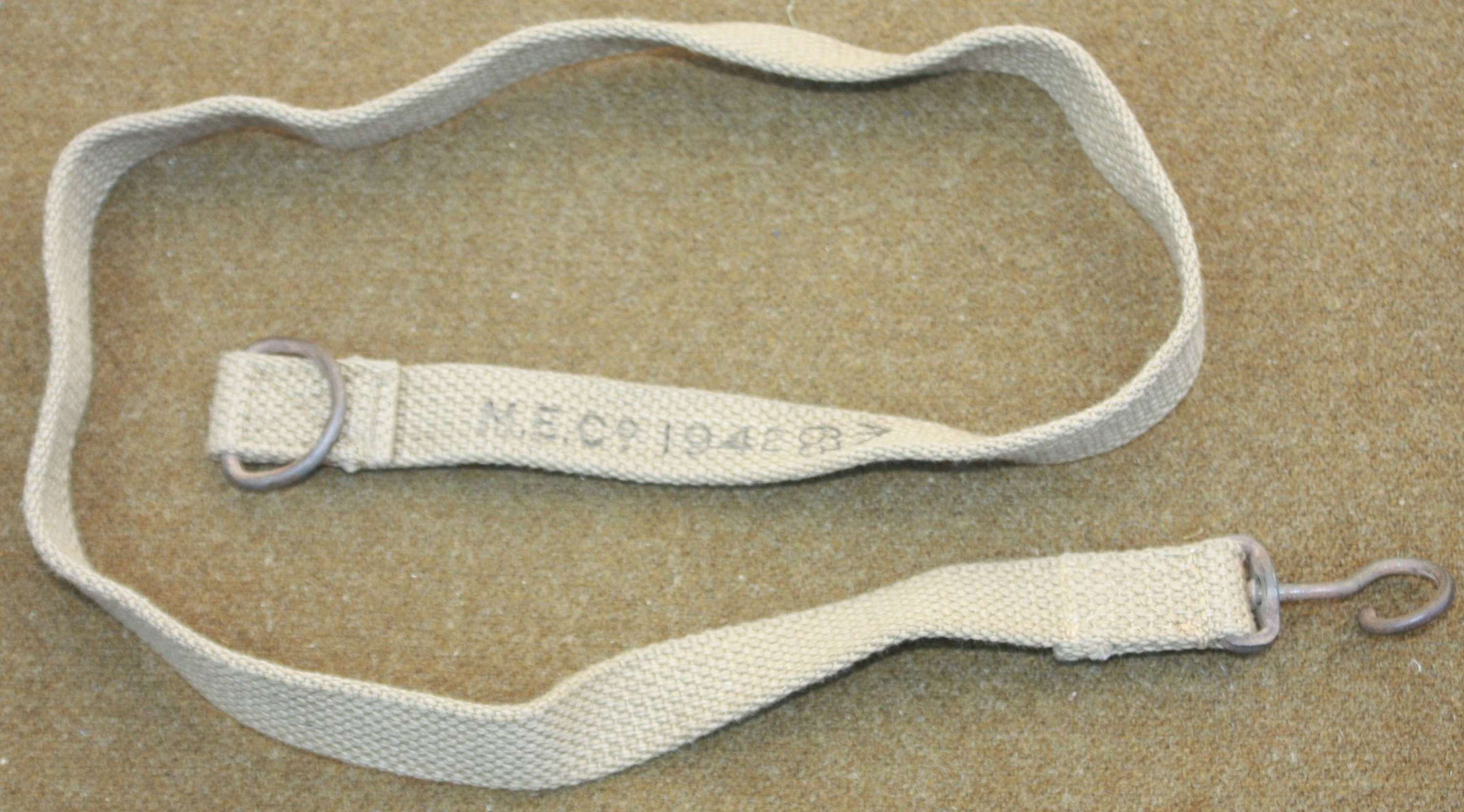 A GOOD 1ST PATTERN STEN SLING 1942 DATED EXAMPLE