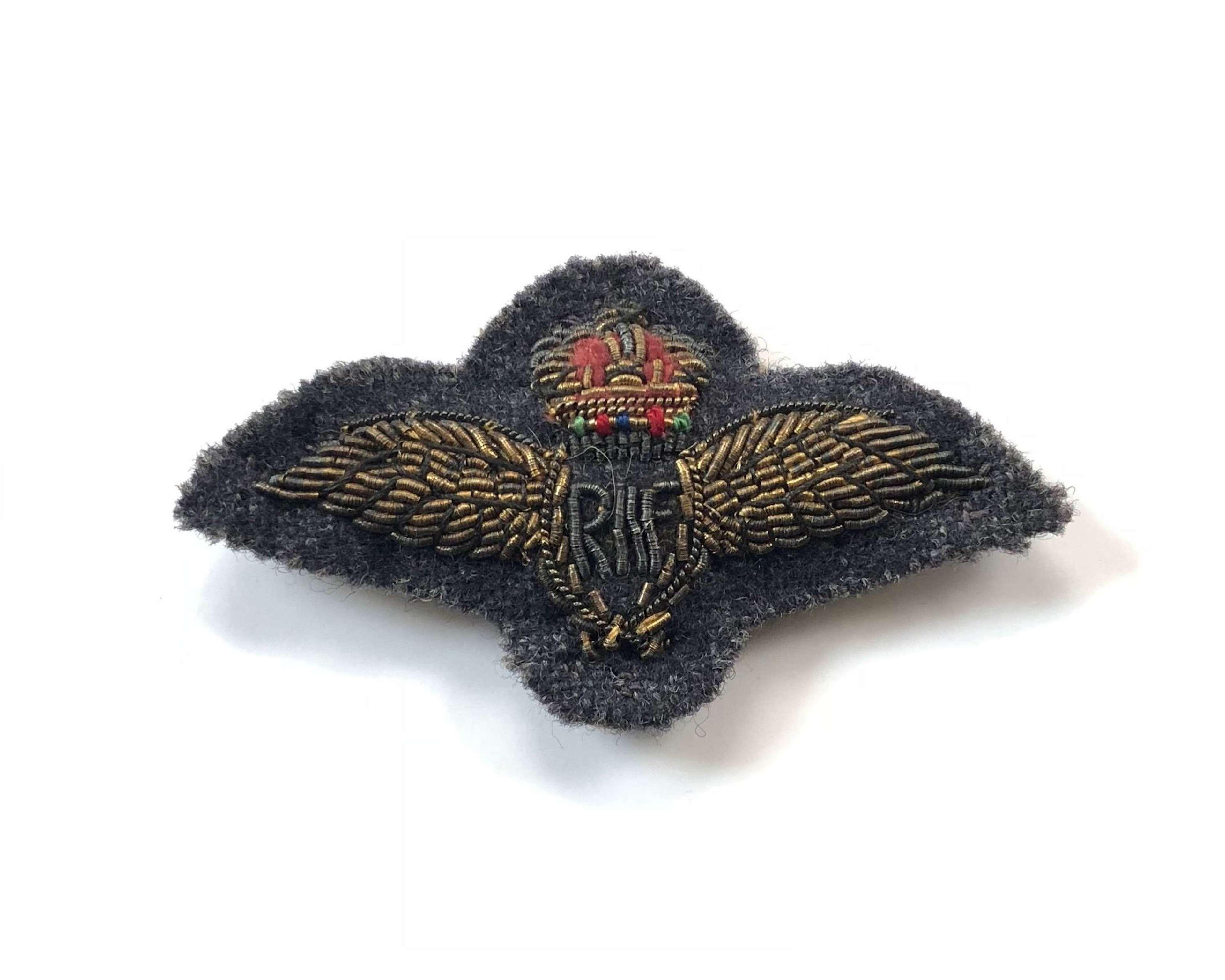 RAF Pilots  Mess Dress Wings Badge.