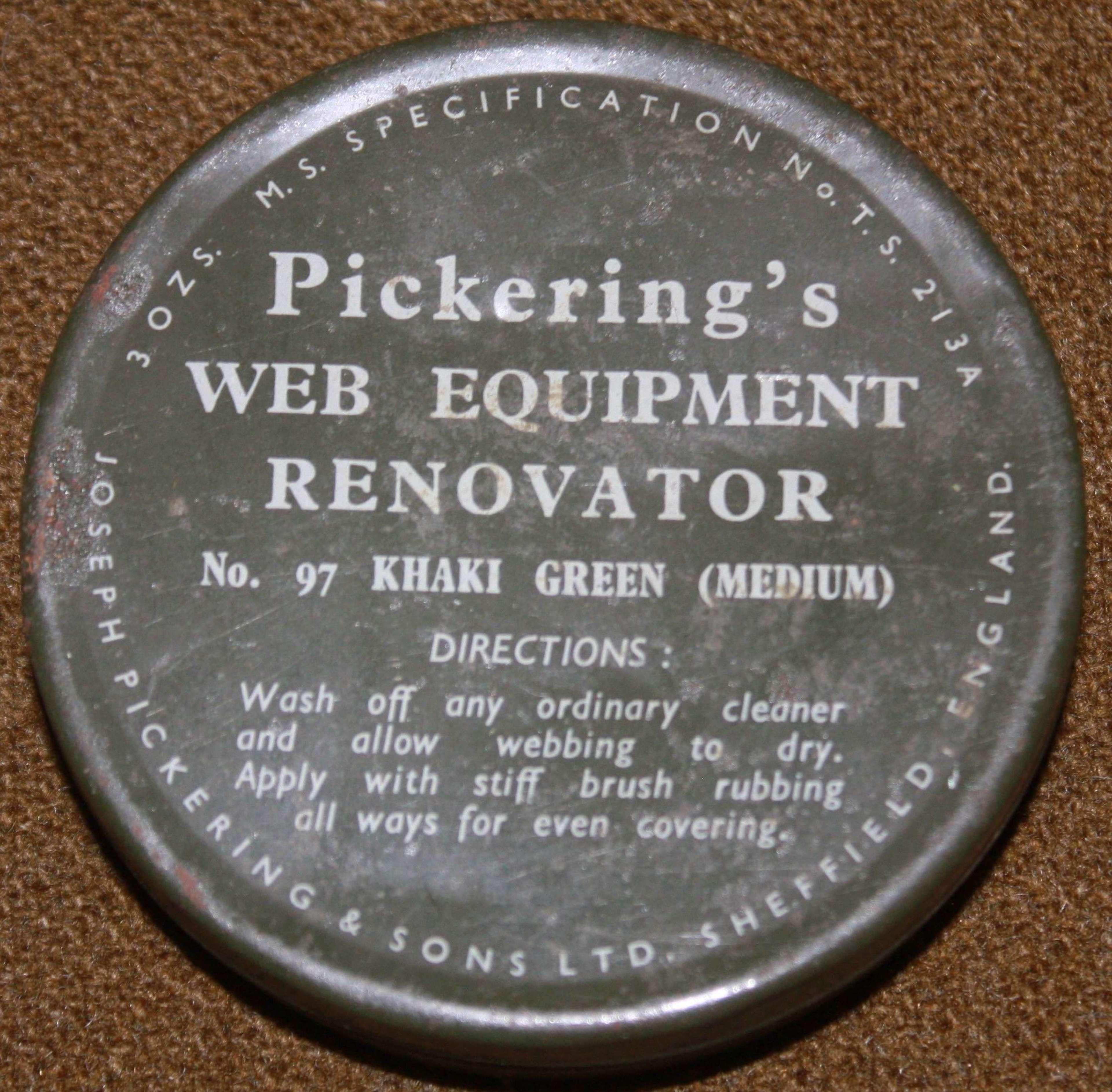 A POST WWII PICKERINGS WEB EQUIPMENT RENOVATOR  NO 97