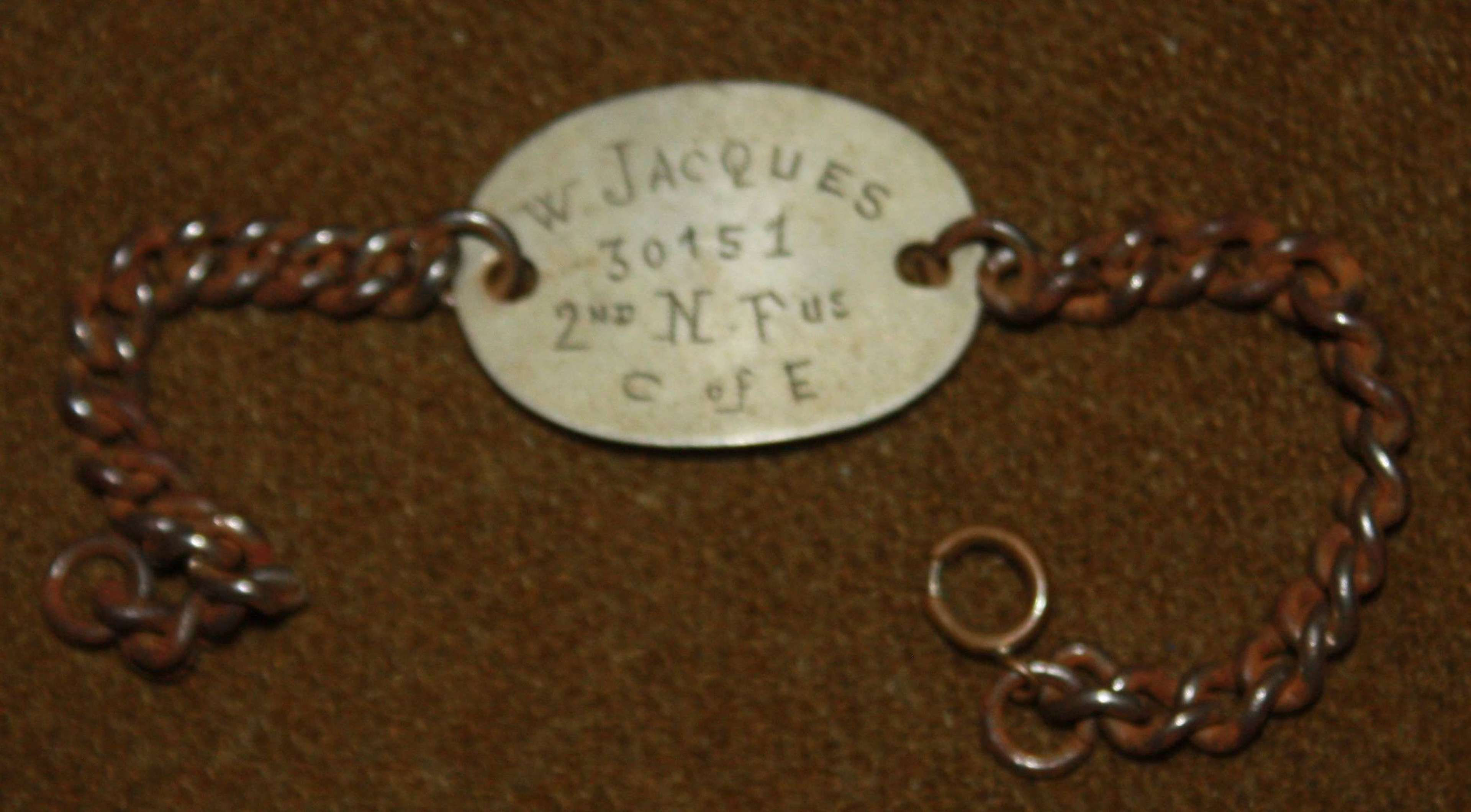 A W JAQUES 30151 WWI ID BRACLET