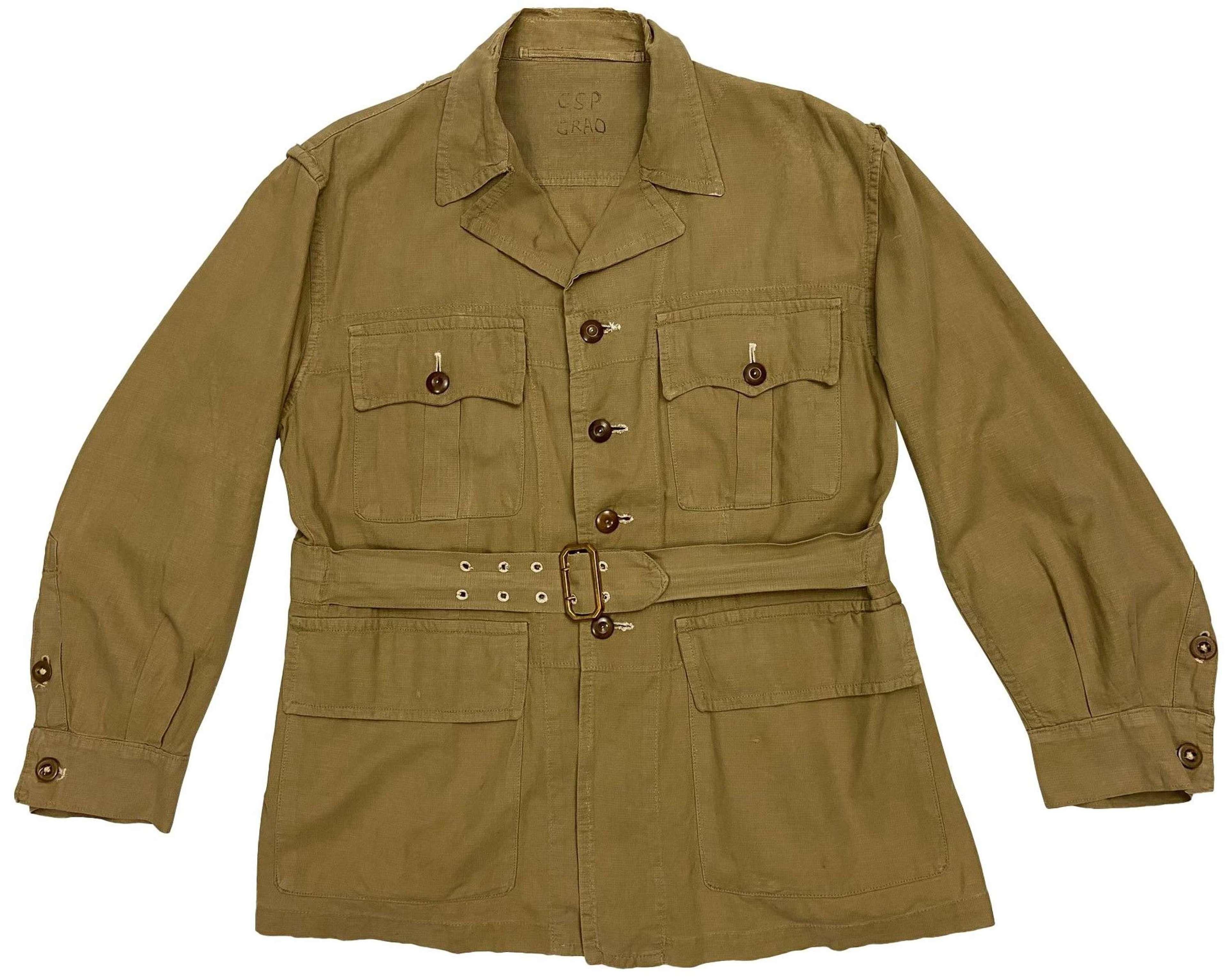 Original 1955 Dated 1950 Pattern Khaki Drill Bush Jacket