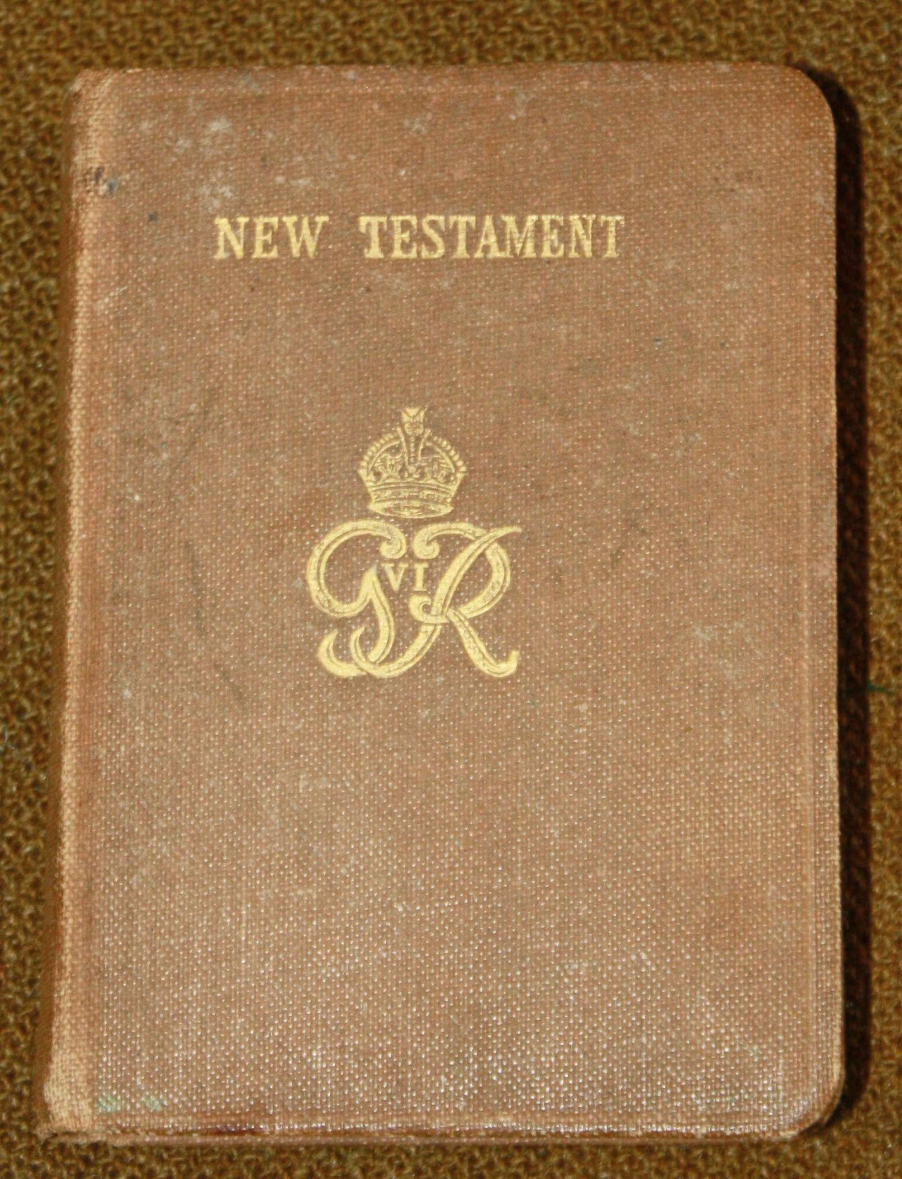 A WWII NAMED ARMY NEW TESTAMENT RASC CHAP
