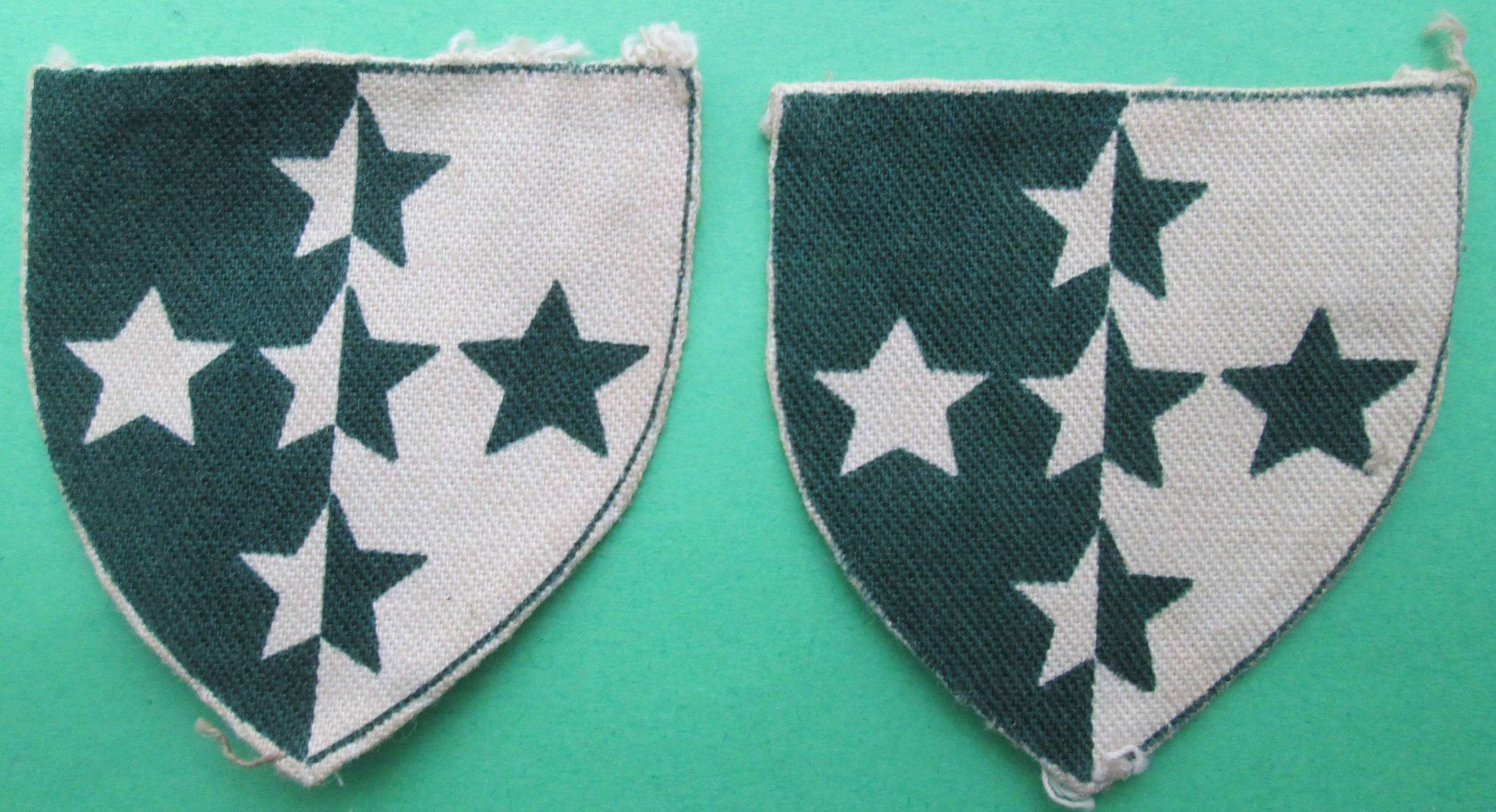 A PAIR OF SOUTHERN COMMAND ROYAL ARMY DENTAL CORPS PATCHES