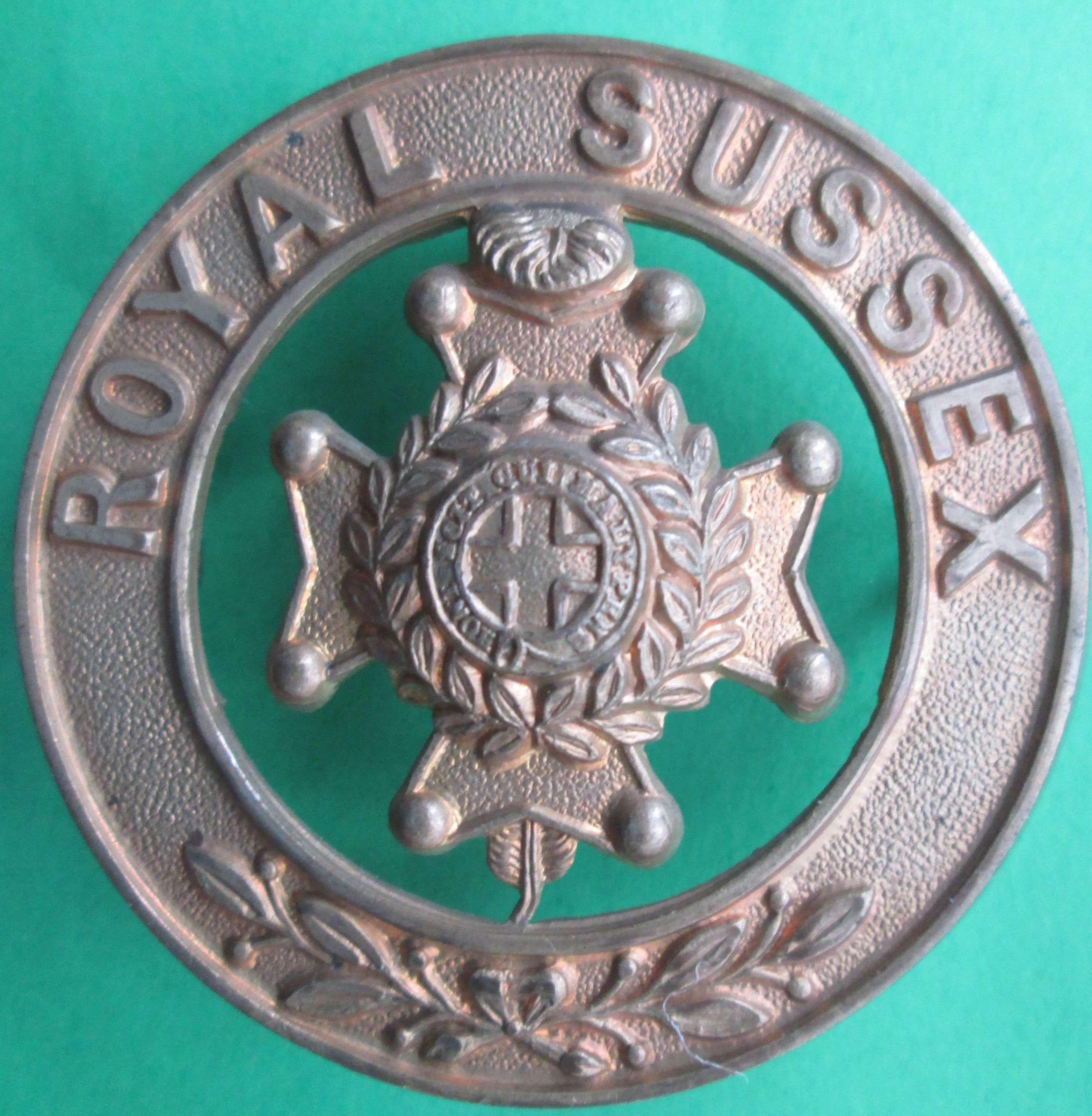 ROYAL SUSSEX REGIMENT HELMET CENTRE