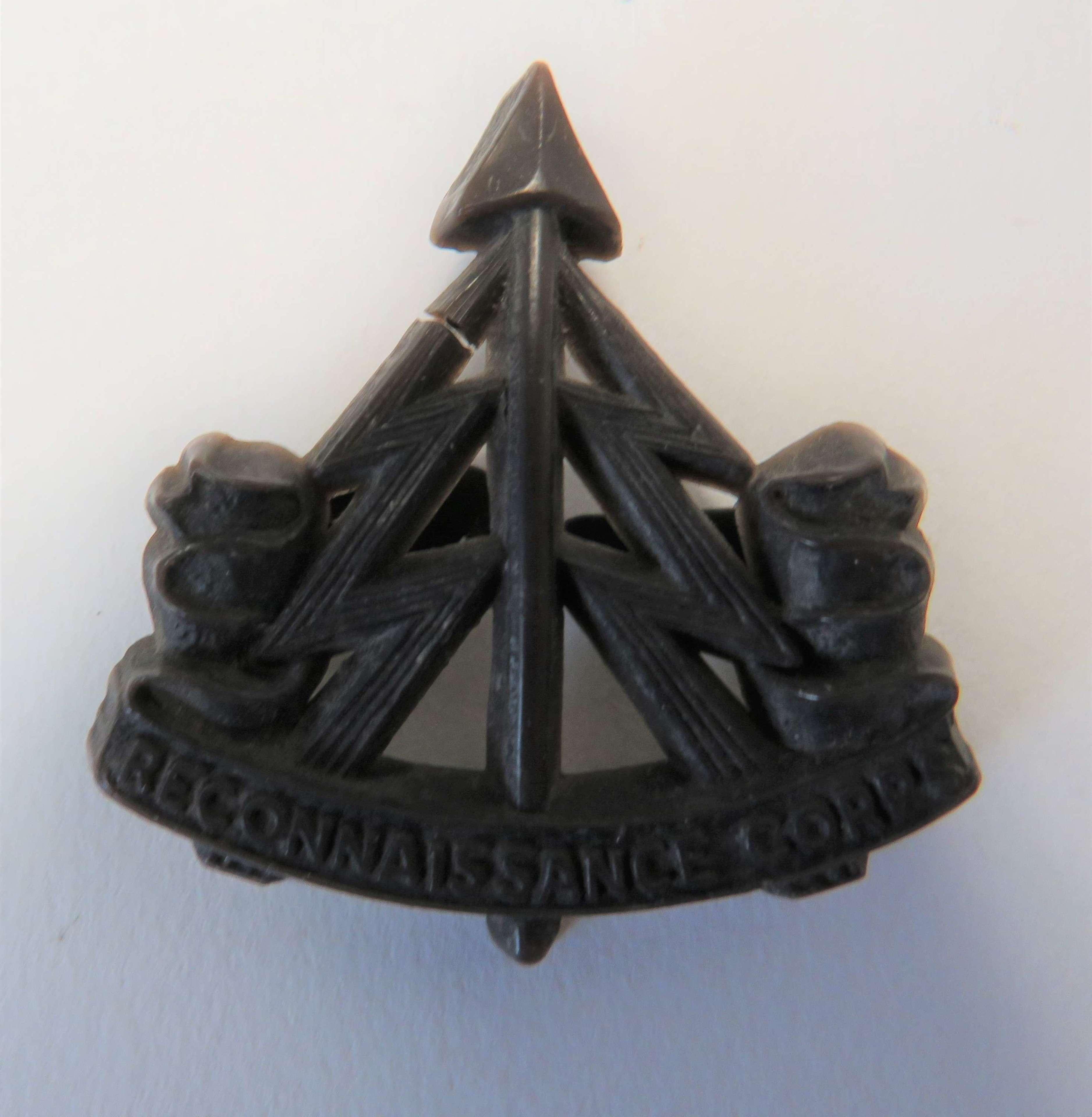 WW2 Reconnaissance Corps Plastic Economy Cap Badge