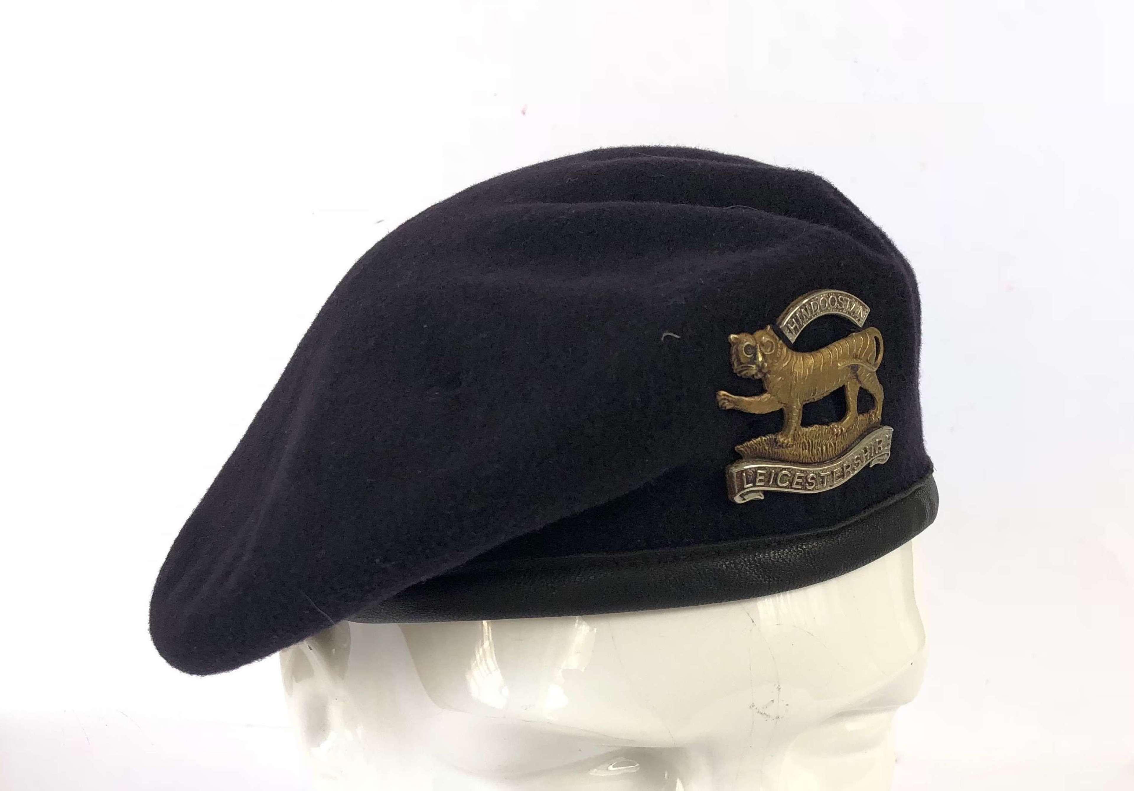 Leicestershire Regiment Cold War Period Dark Blue Beret.
