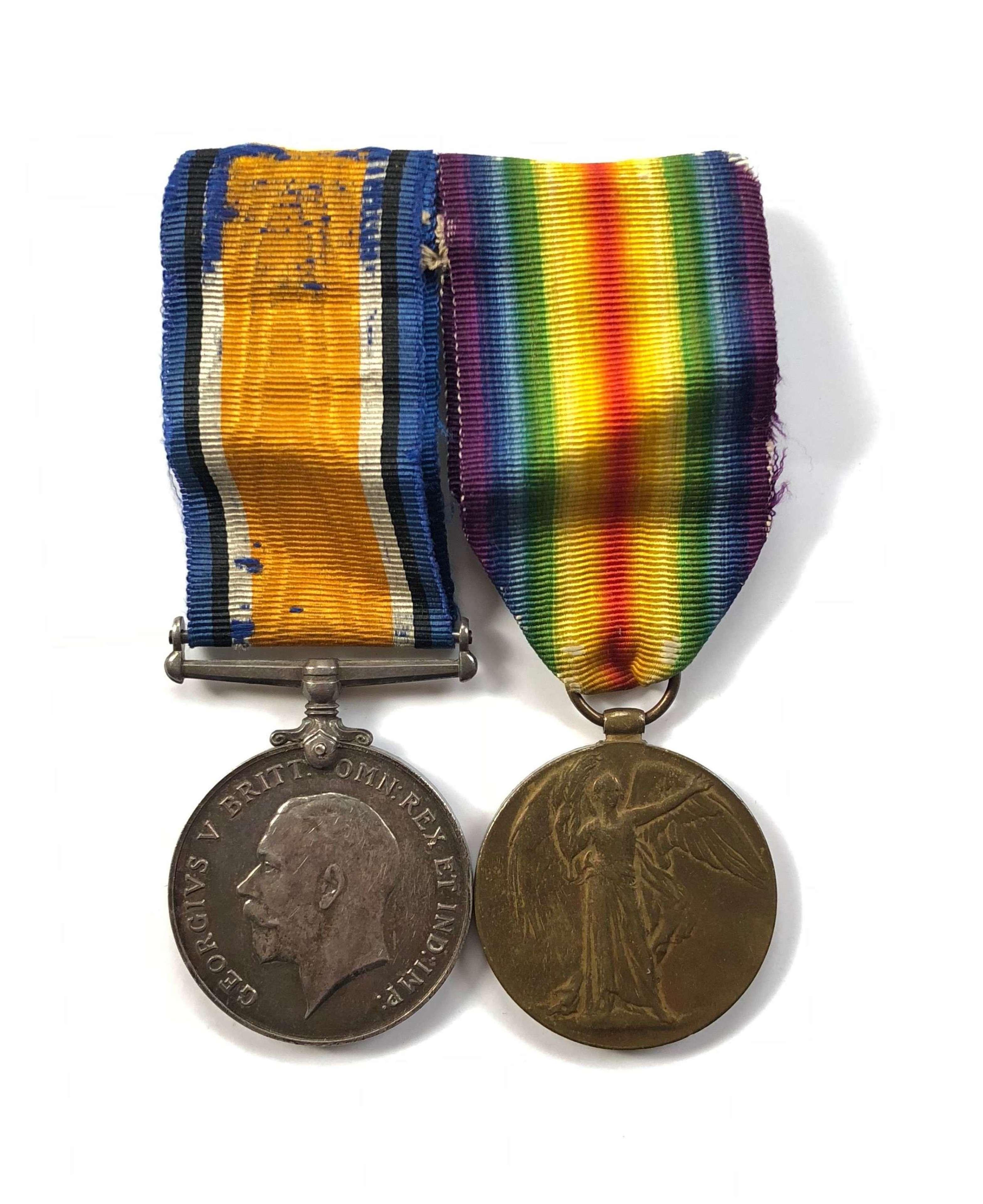 WW1 RNAS Royal Naval Air Service Pair of Medals.