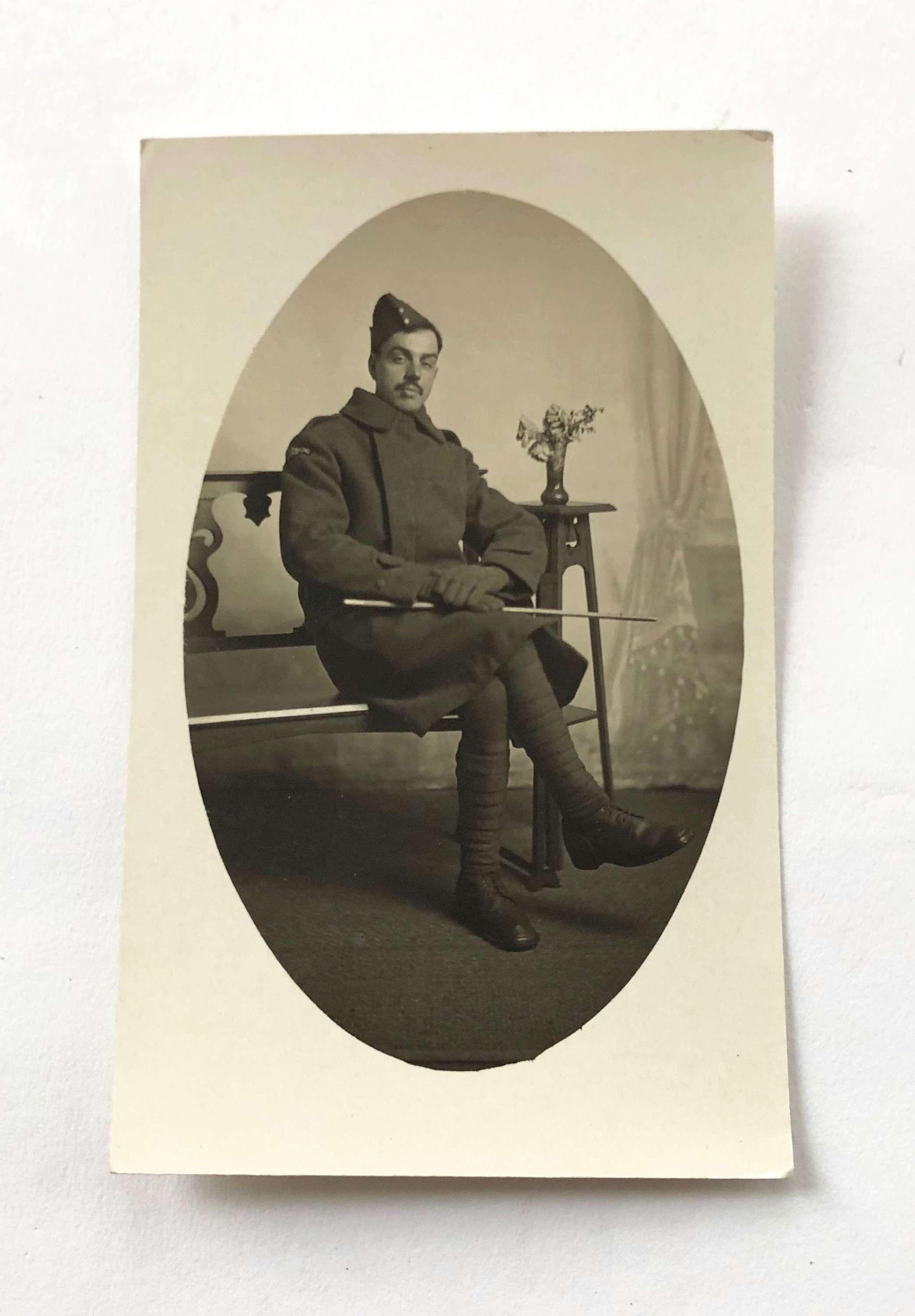 WW1 Royal Flying Corps Original Postcard Photograph.