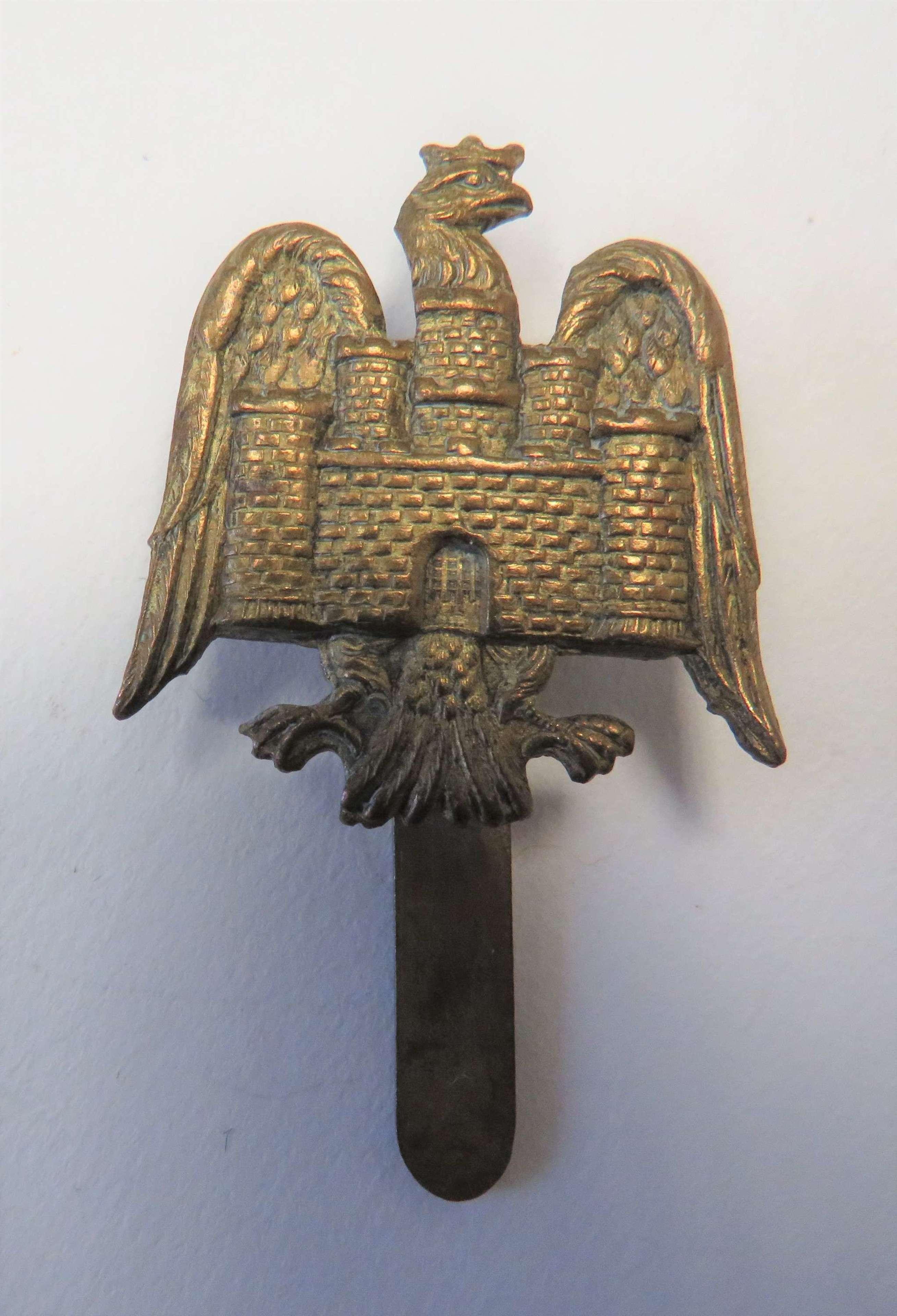 Bedfordshire Yeomanry Brass Economy Cap Badge