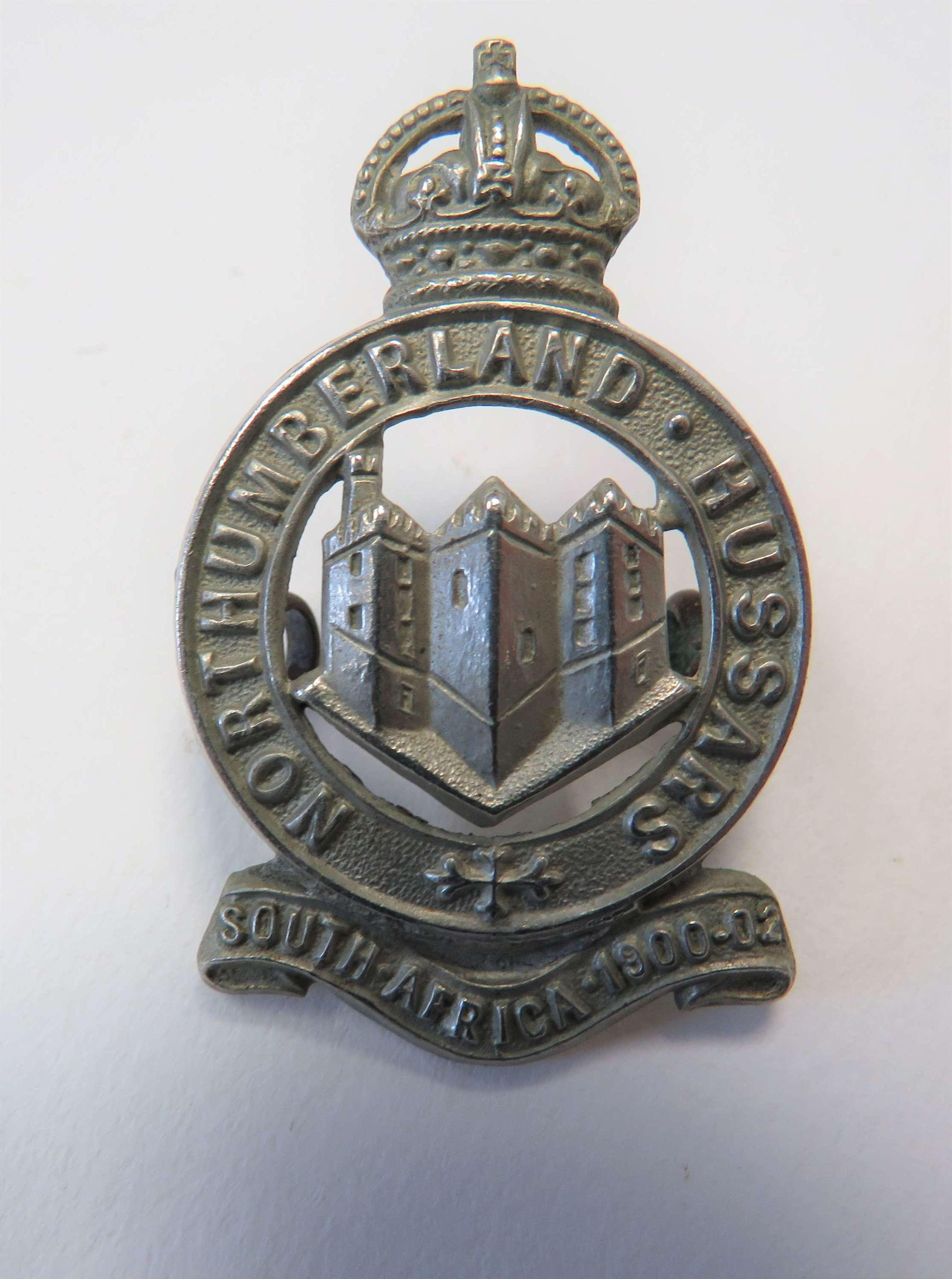 Northumberland Hussars Cap Badge