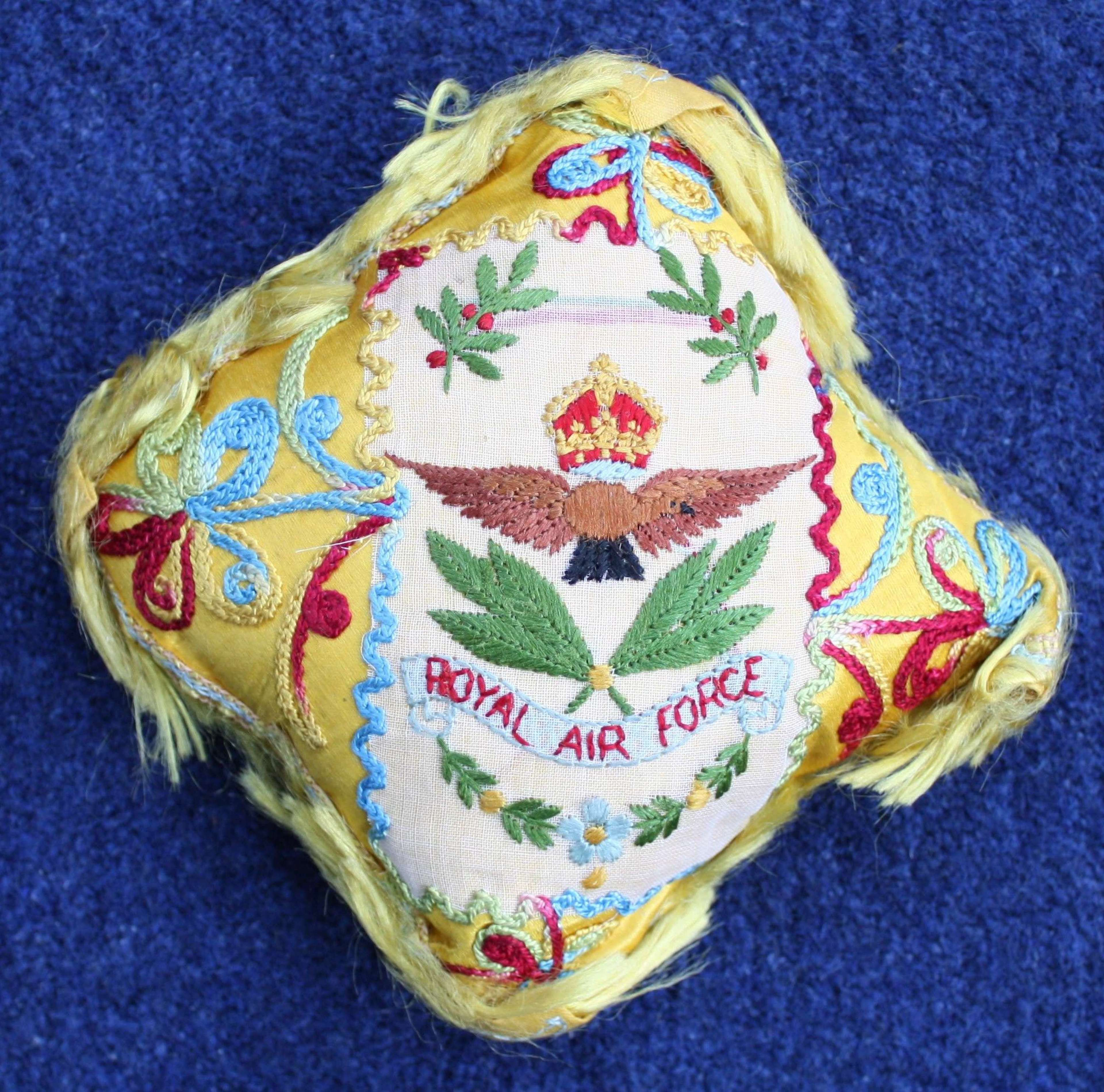Late WW1 Royal Air Force Pin Cushion. Very Good Condition.