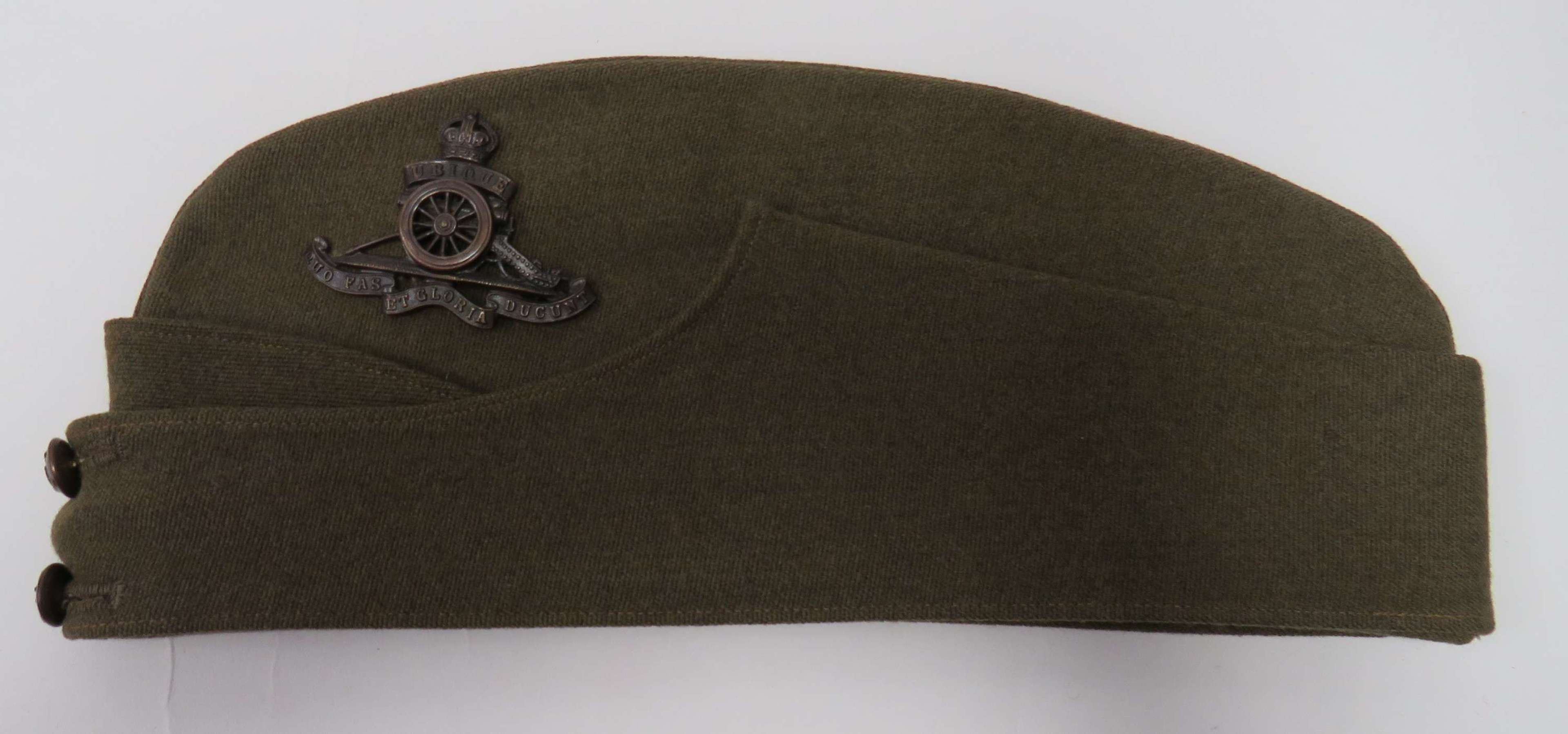 WW2 Royal Artillery  Officers Forage Cap