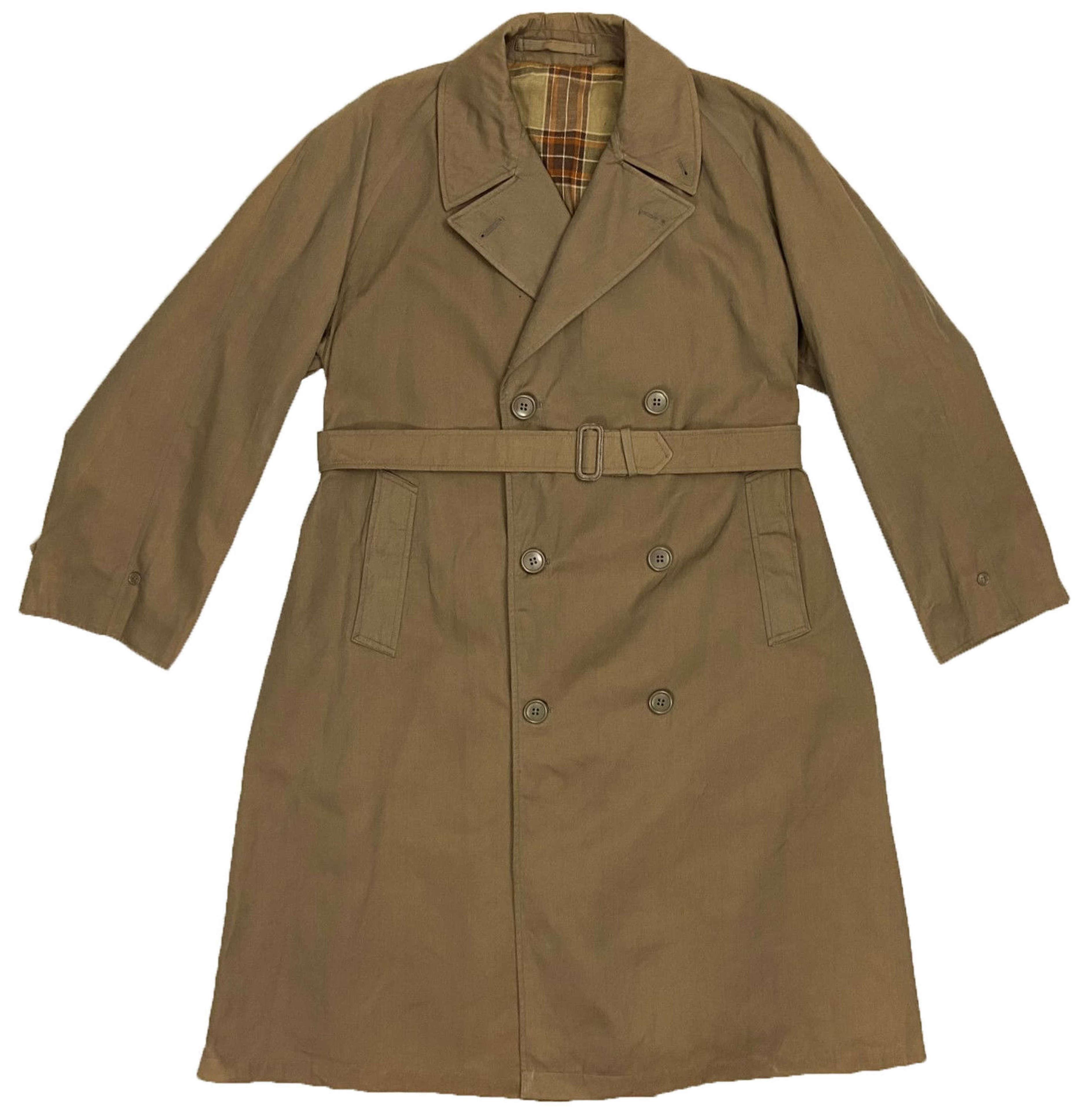 Original 1956 Dated Demobilised Servicemen's Double Breasted Raincoat