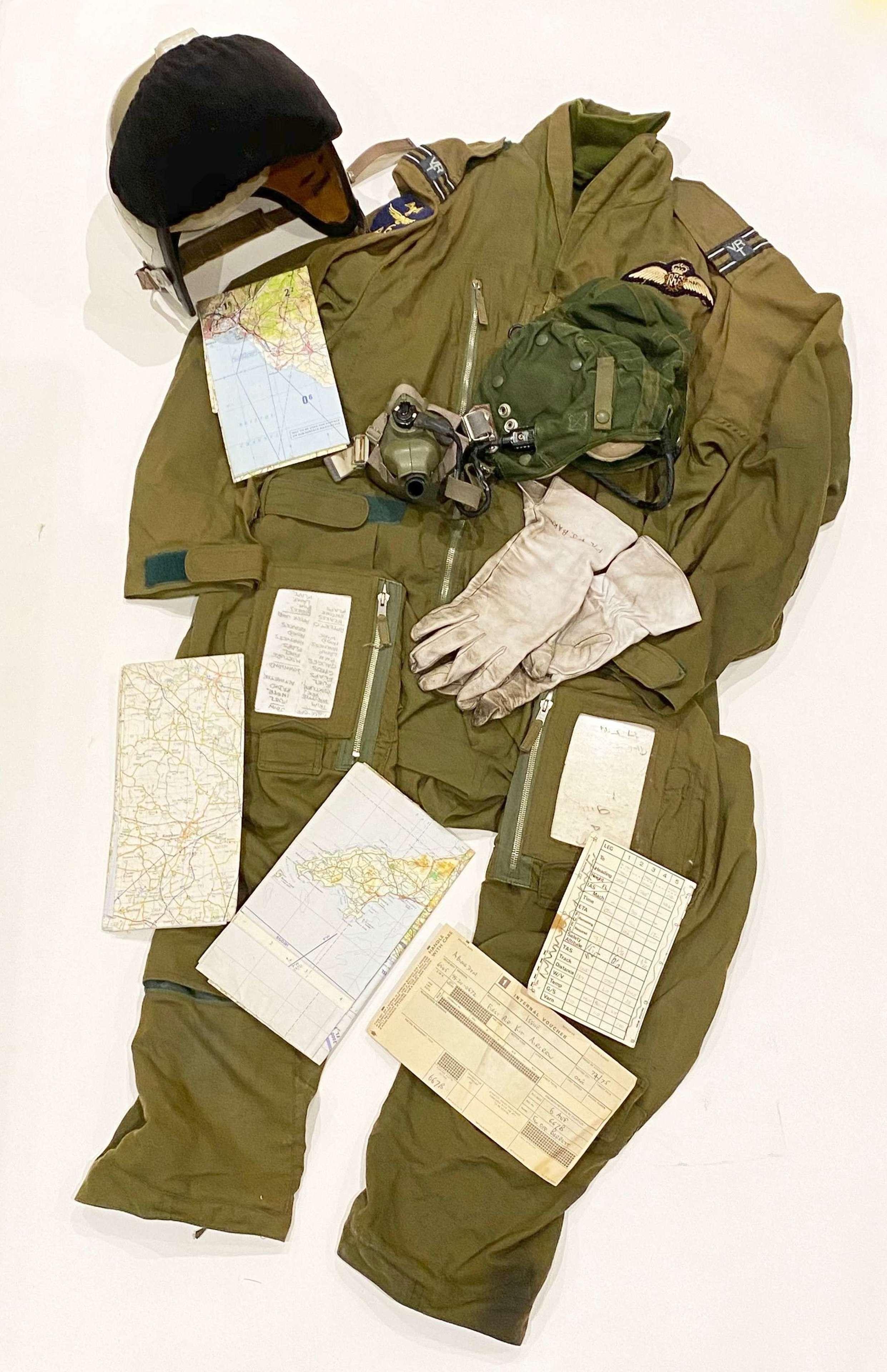 RAF Cold War Flying Helmet & Clothing.