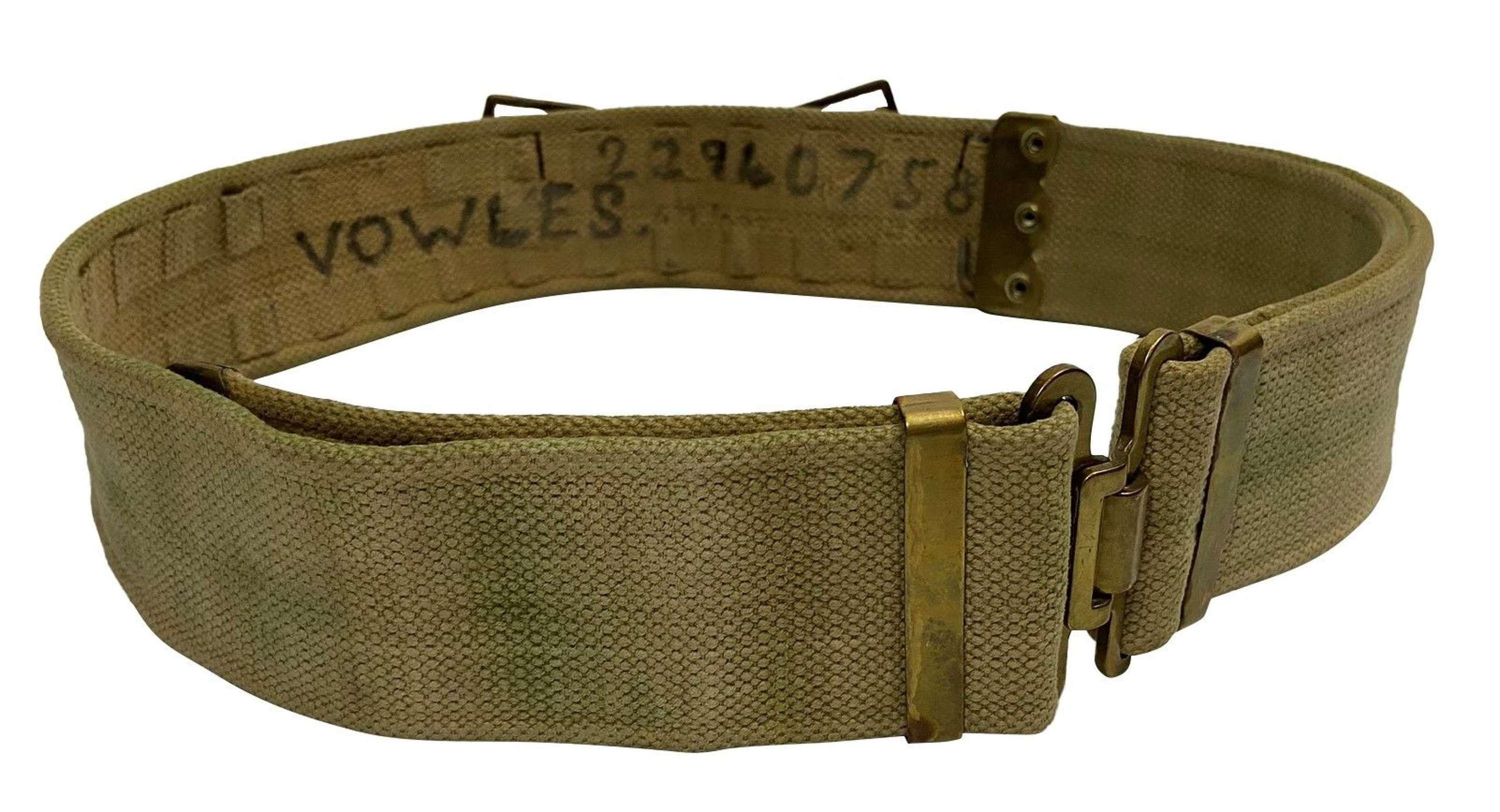 Original 1937 Pattern Webbing Belt - Large size