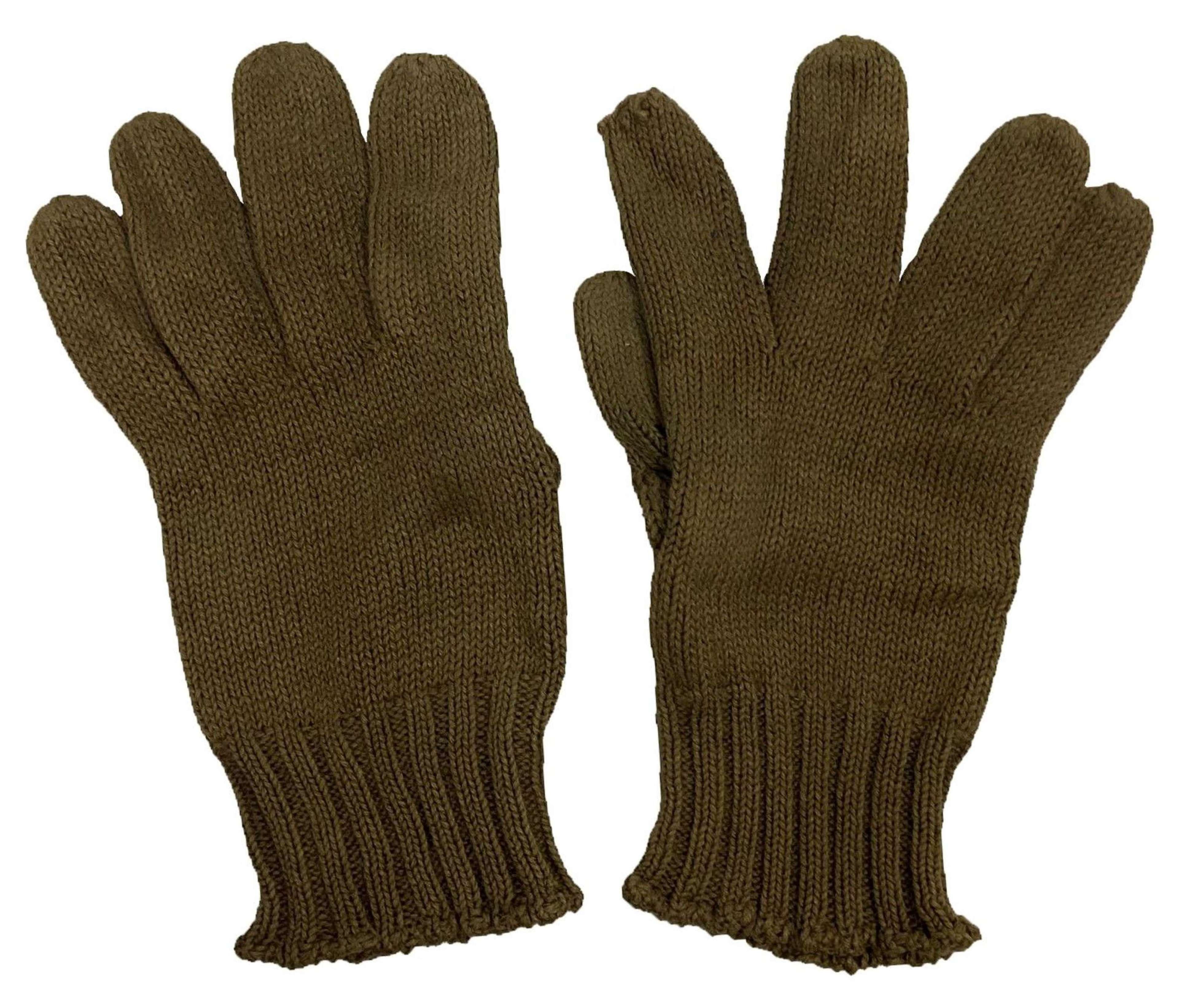 Original WW2 Period British Army Woollen Gloves