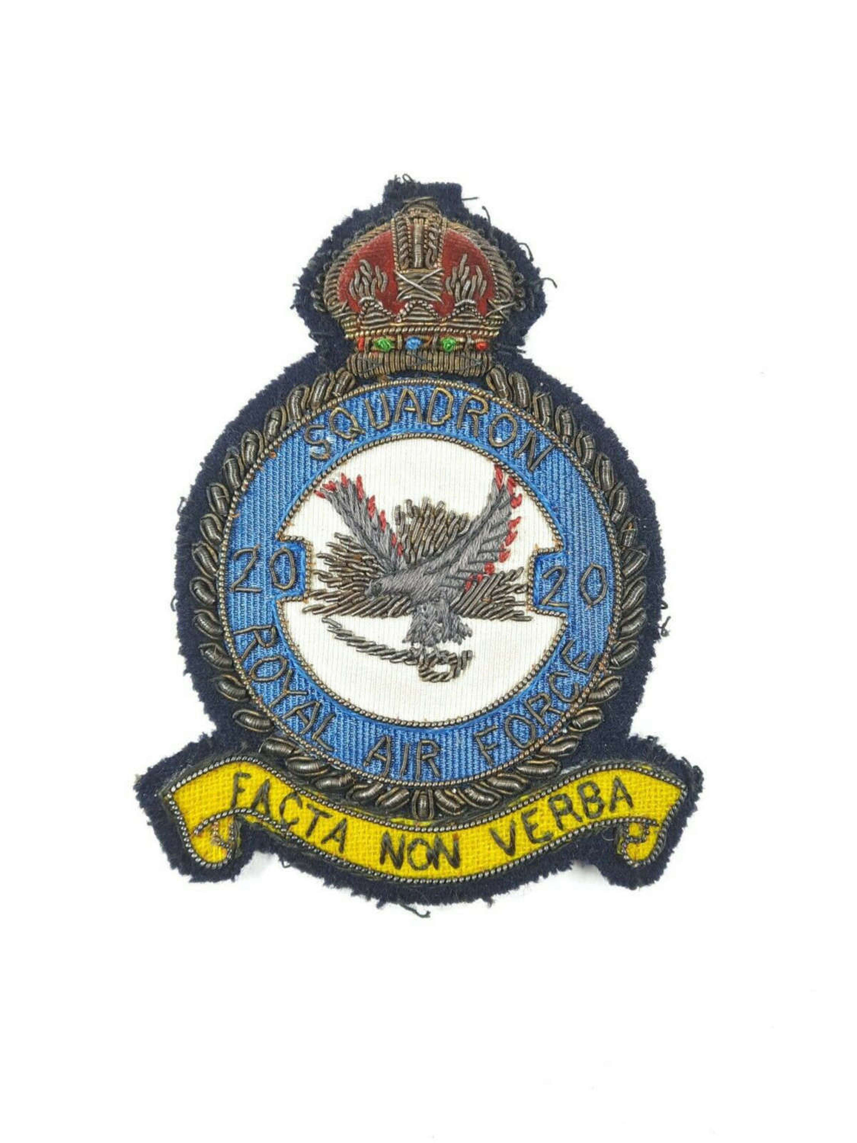 RAF 20 Squadron Blazer Badge