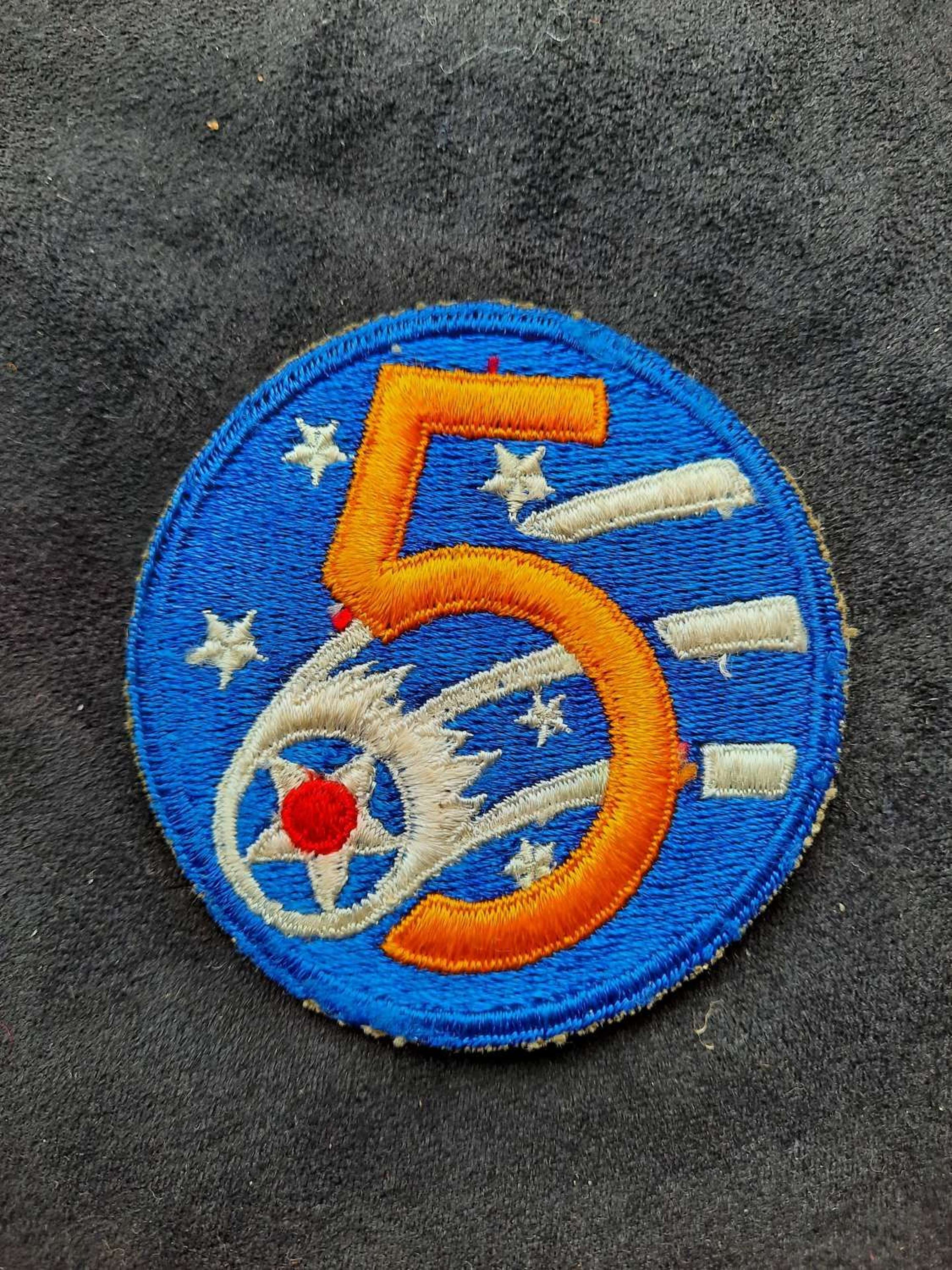 USAAF 5th Air Force Patch