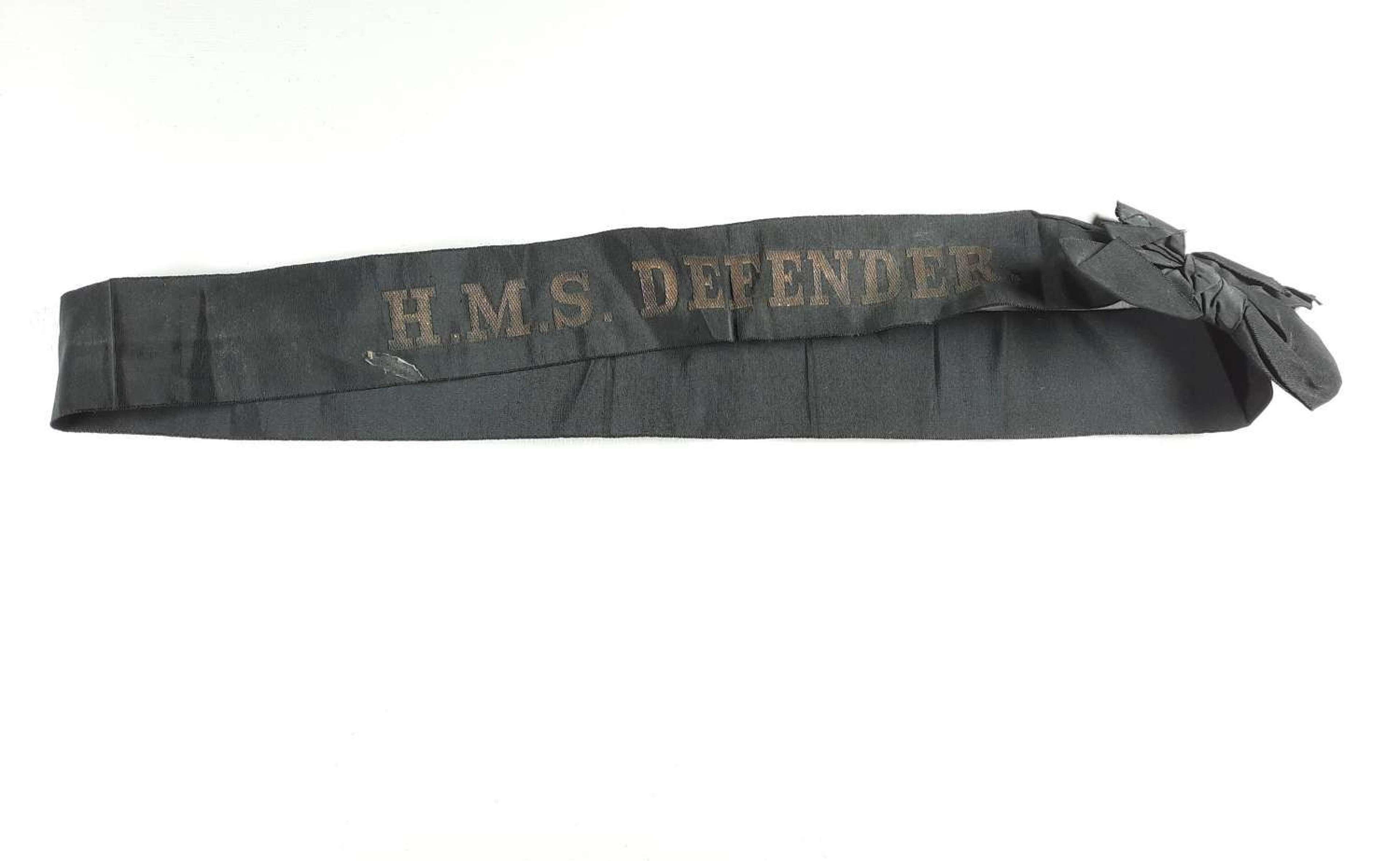 HMS Defender Cap Tally