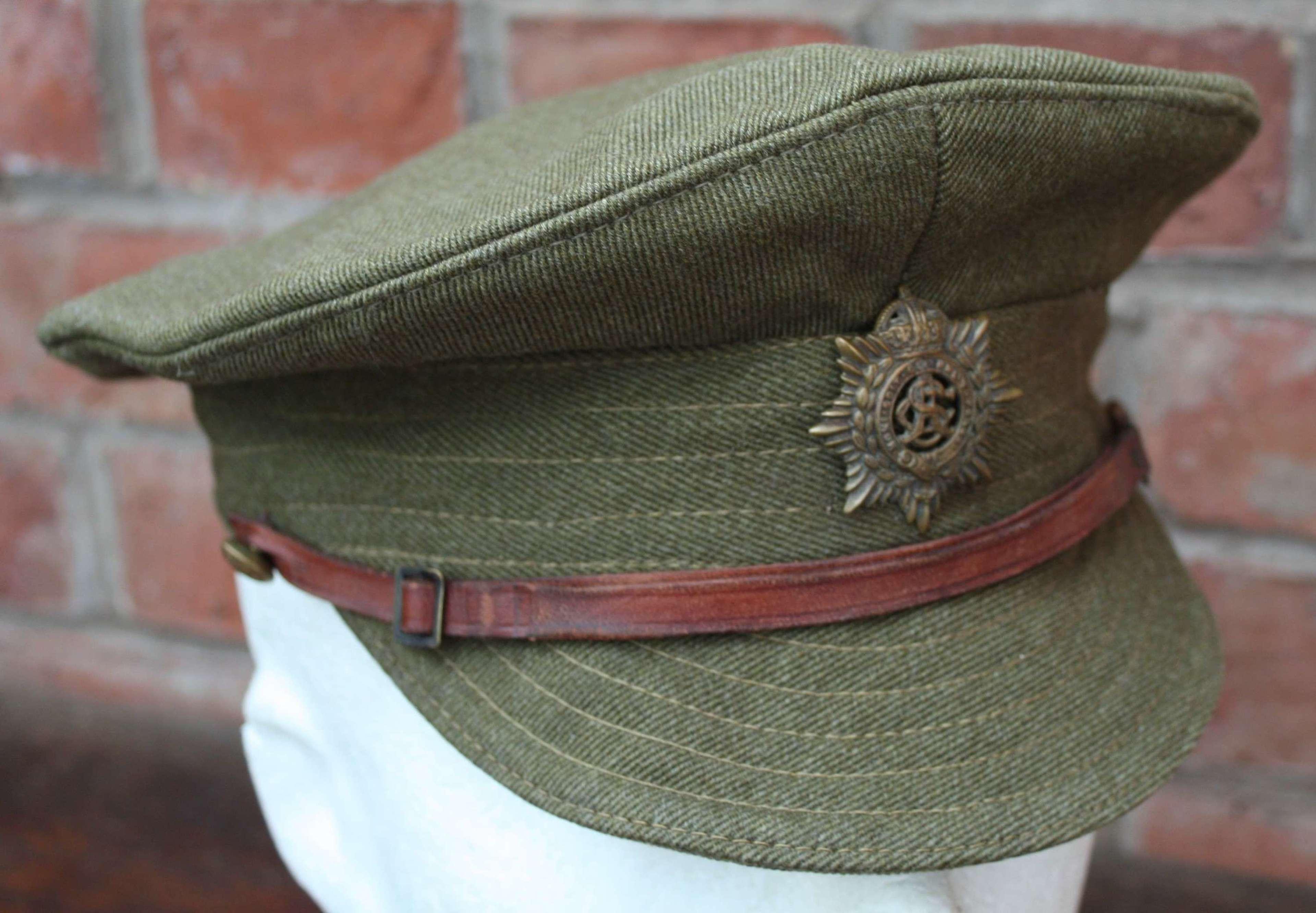 WW1 British Army 1918 Dated Khaki Trench Cap.