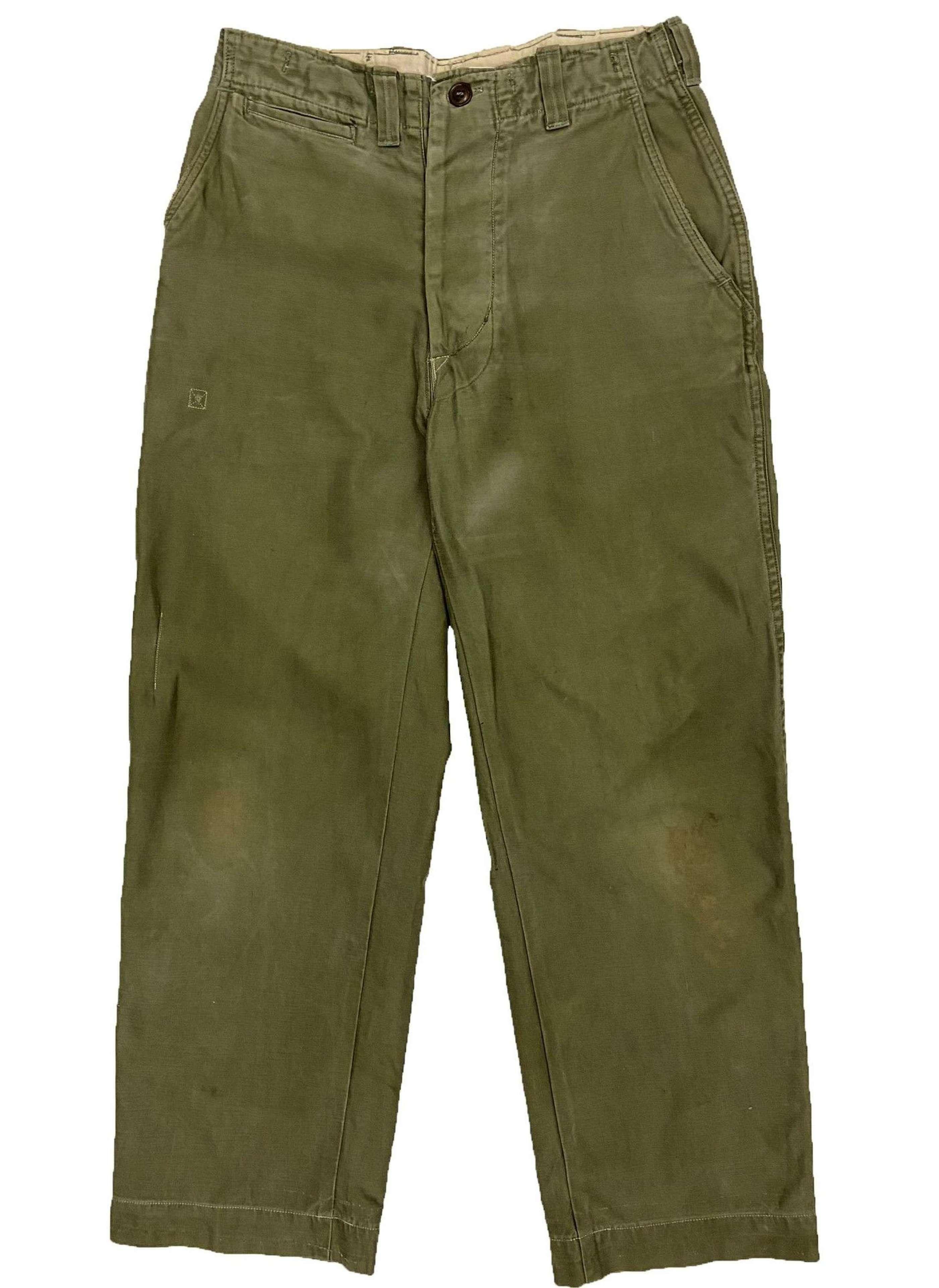 Original WW2 US Army M43 Combat trousers - Size 31x28