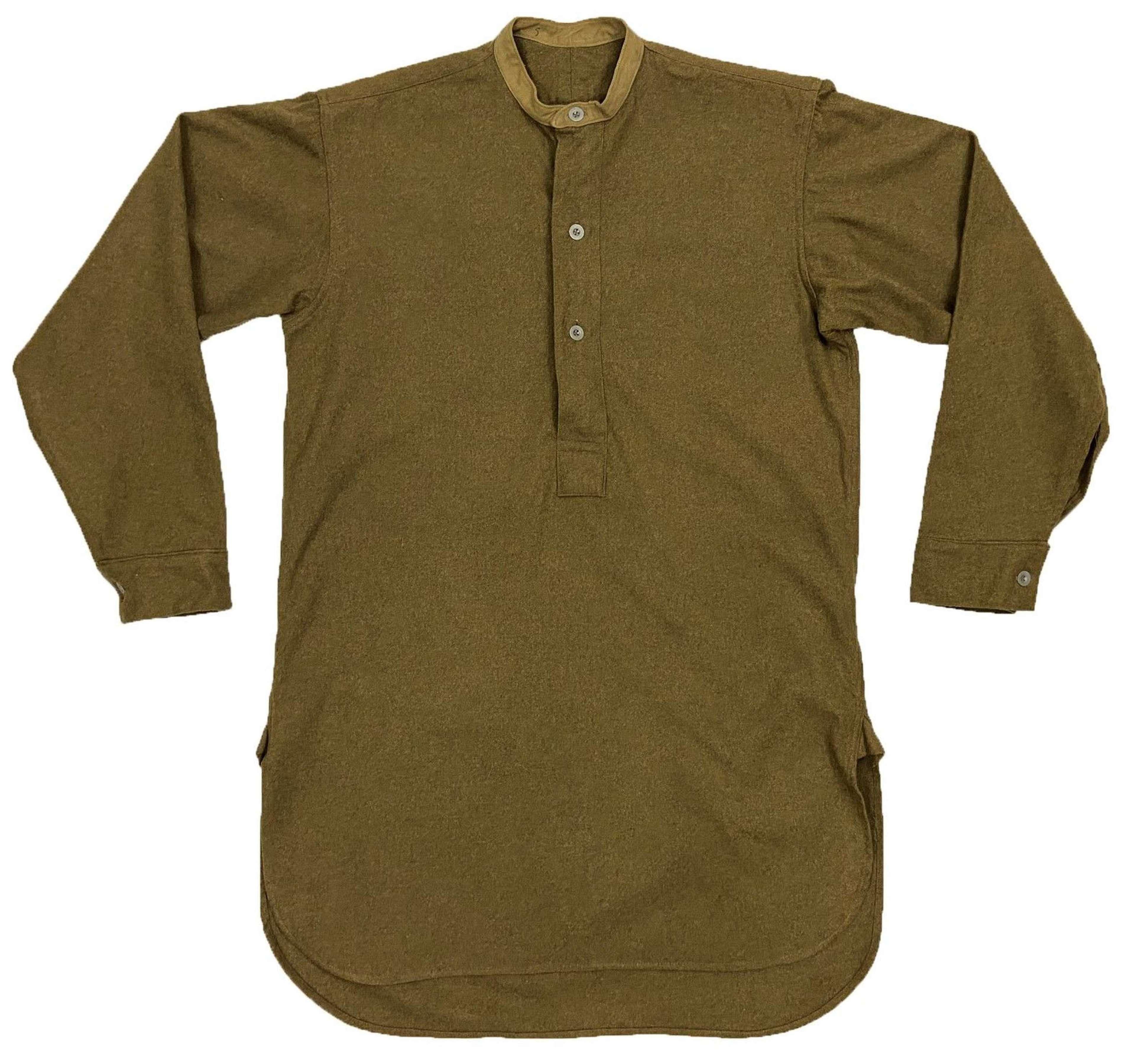 Scarce Original Early WW2 British Army Ordinary Ranks Collarless Shirt