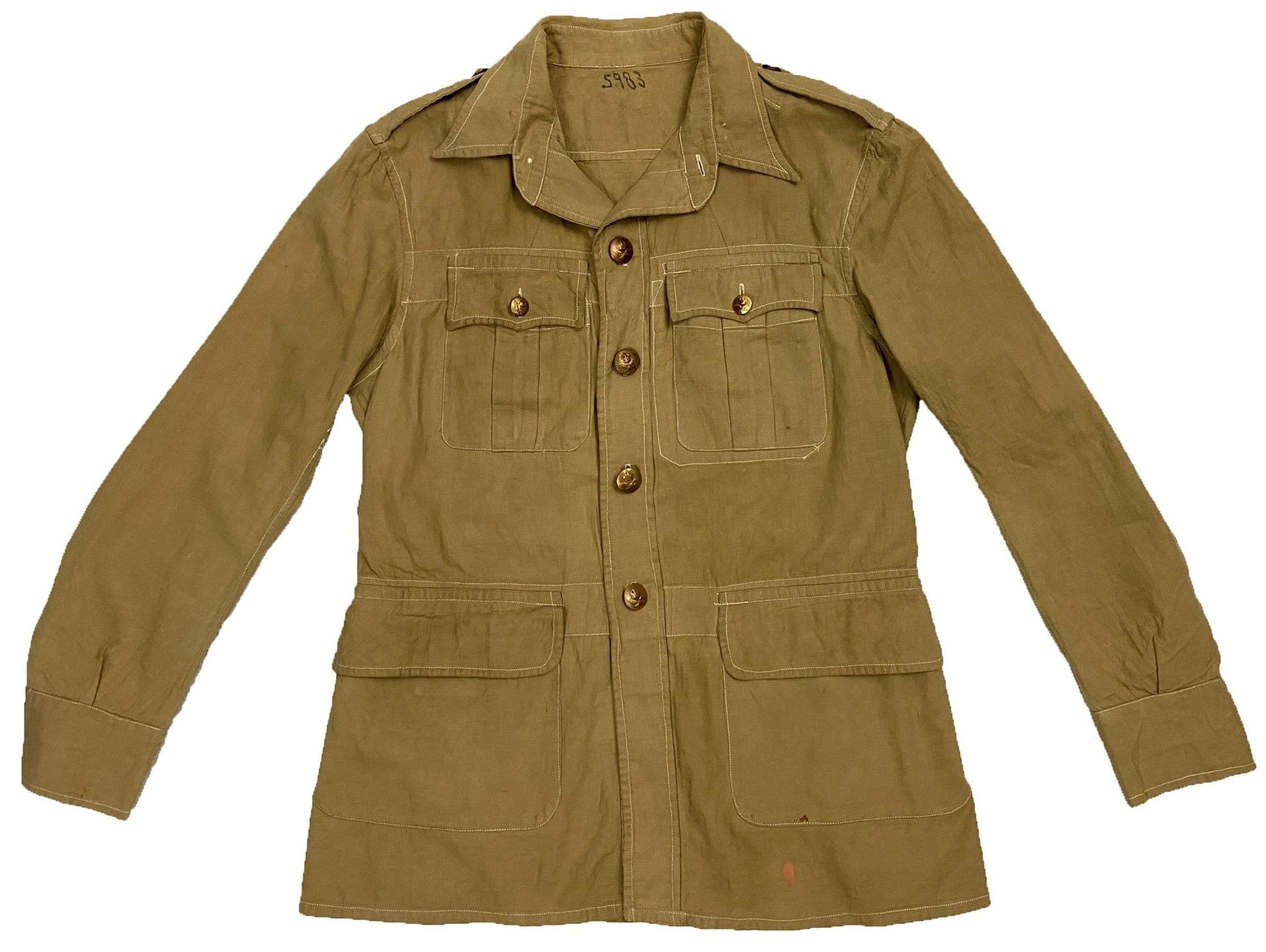 Original 1945 Dated RAF Khaki Drill Bush Jacket - Size 11