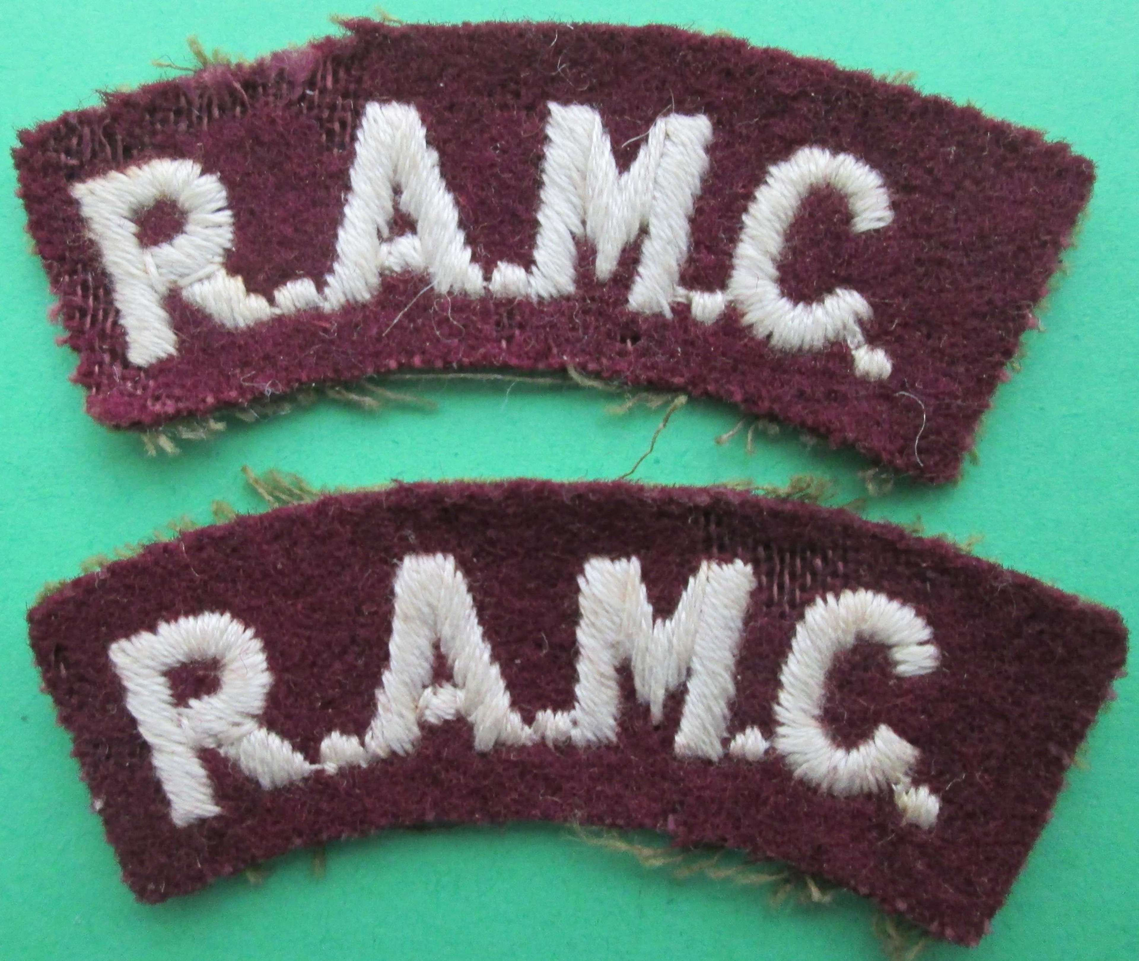 A PAIR OF ROYAL ARMY MEDICAL CORPS SHOULDER TITLES