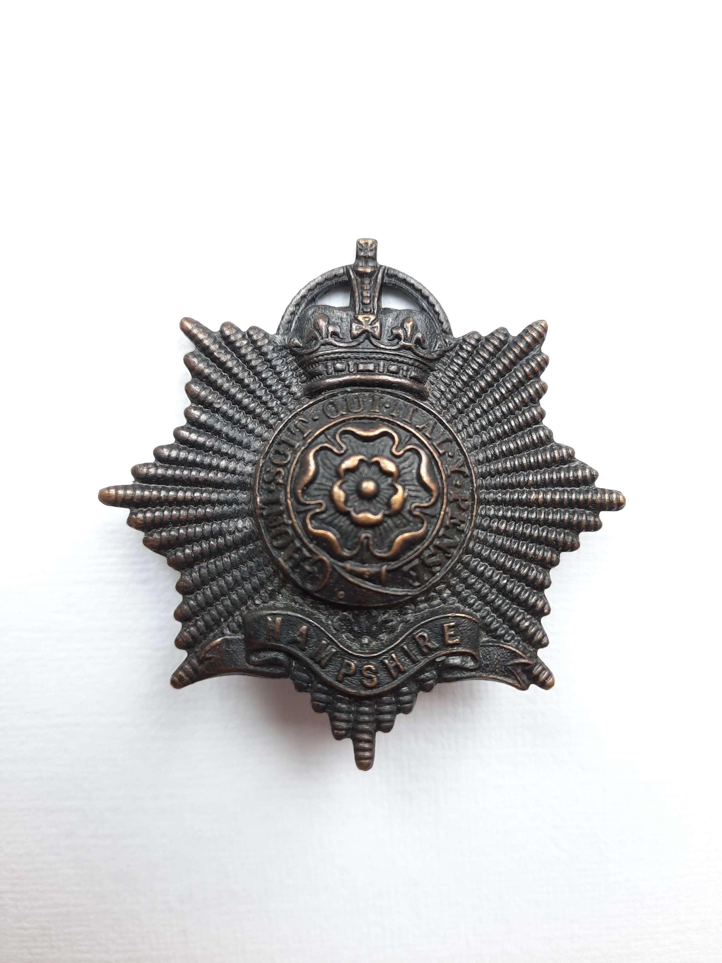 Hampshire Regiment Officer's Cap Badge