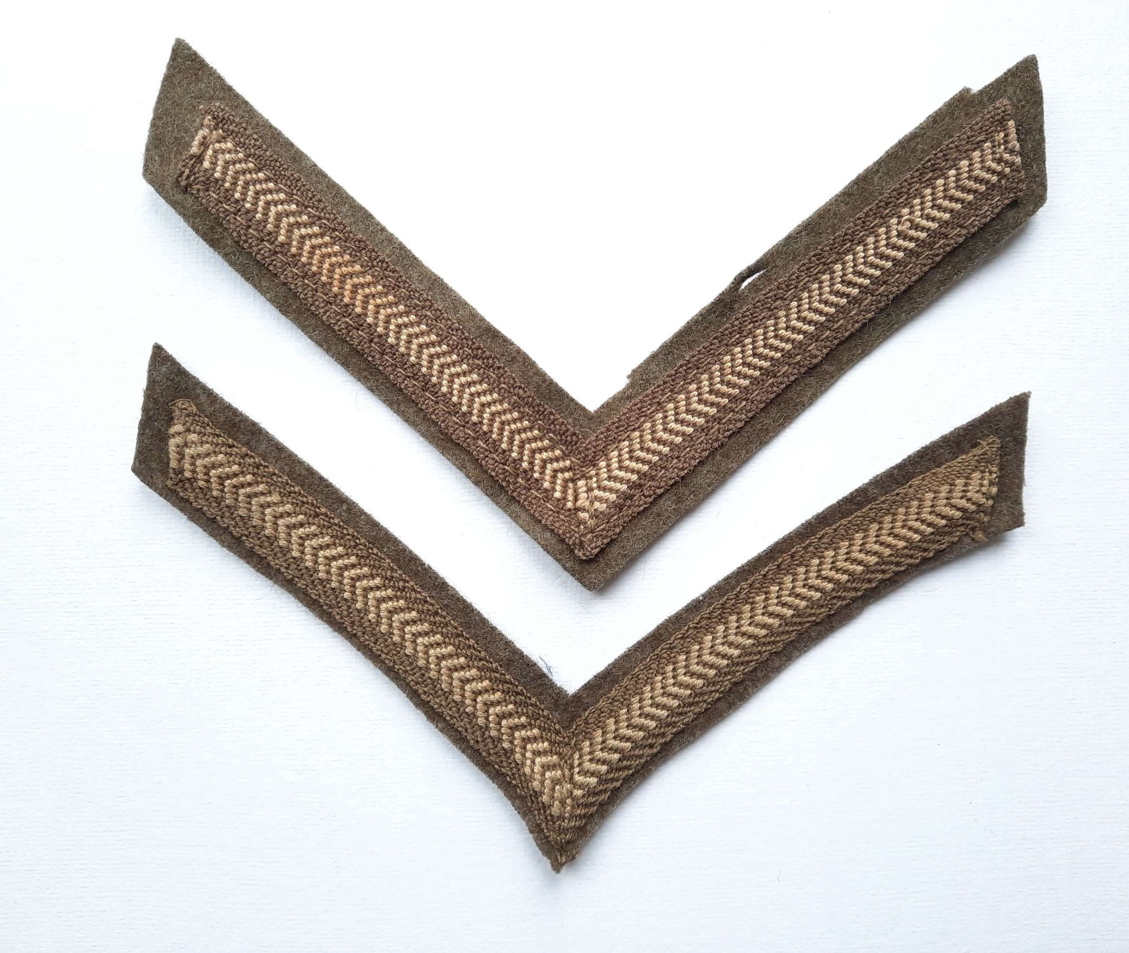 British Army Corporal Stripes Pair