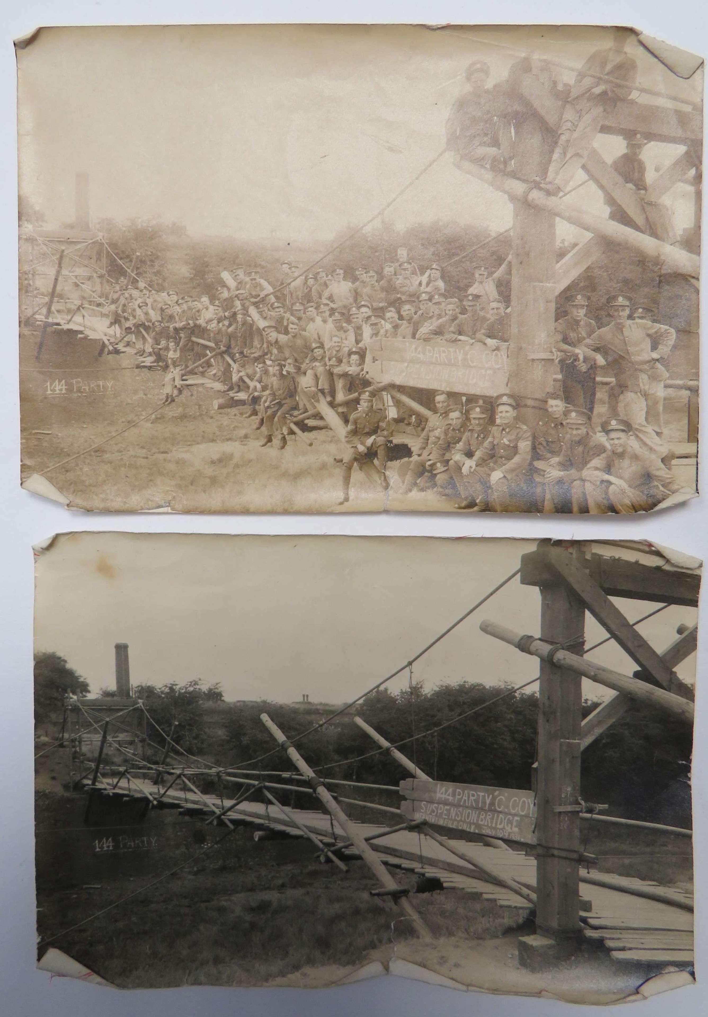 1931 Royal Engineer Bridging Photographs