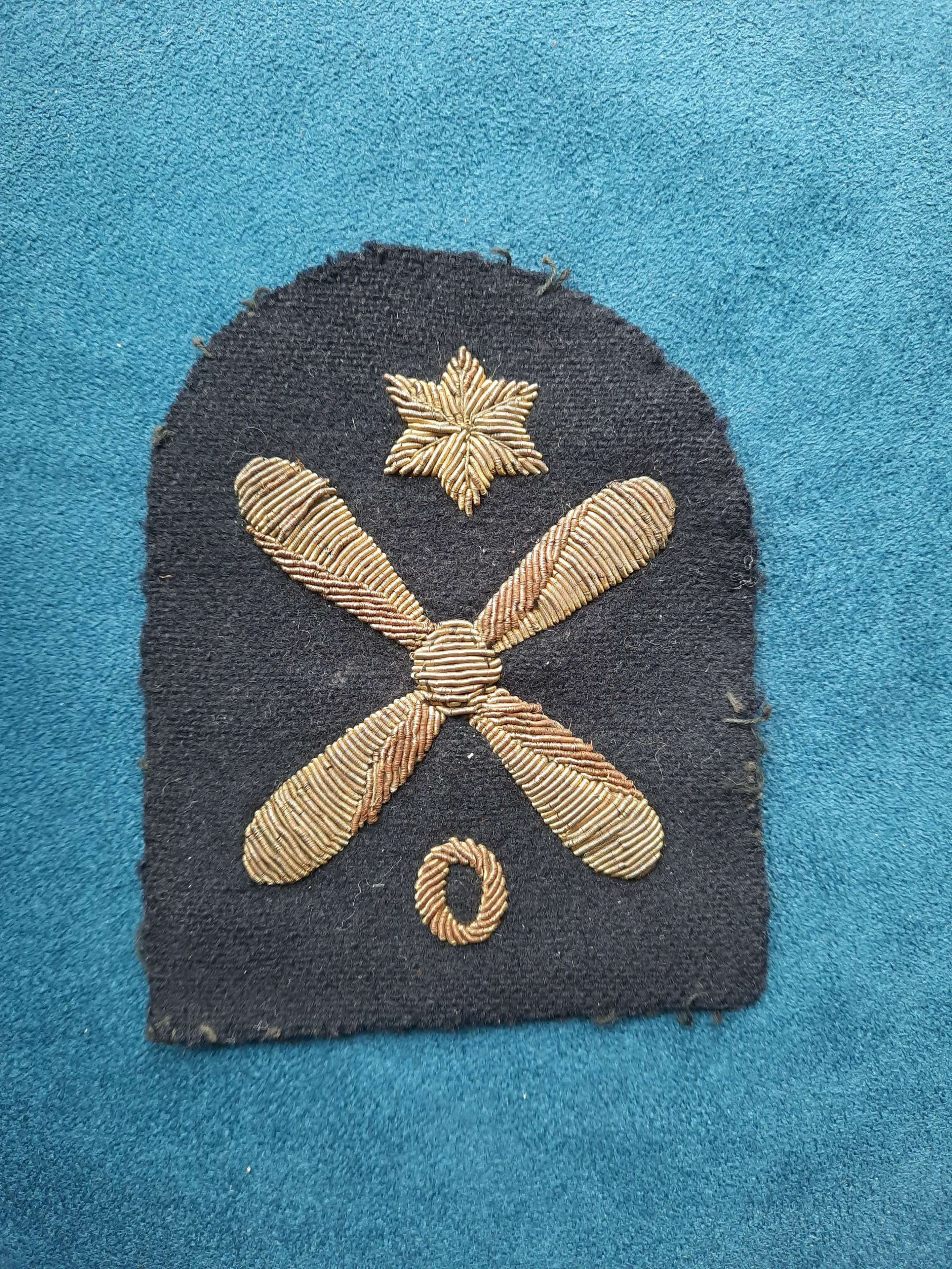 Royal Navy Leading Air Fitter Ordnance Patch