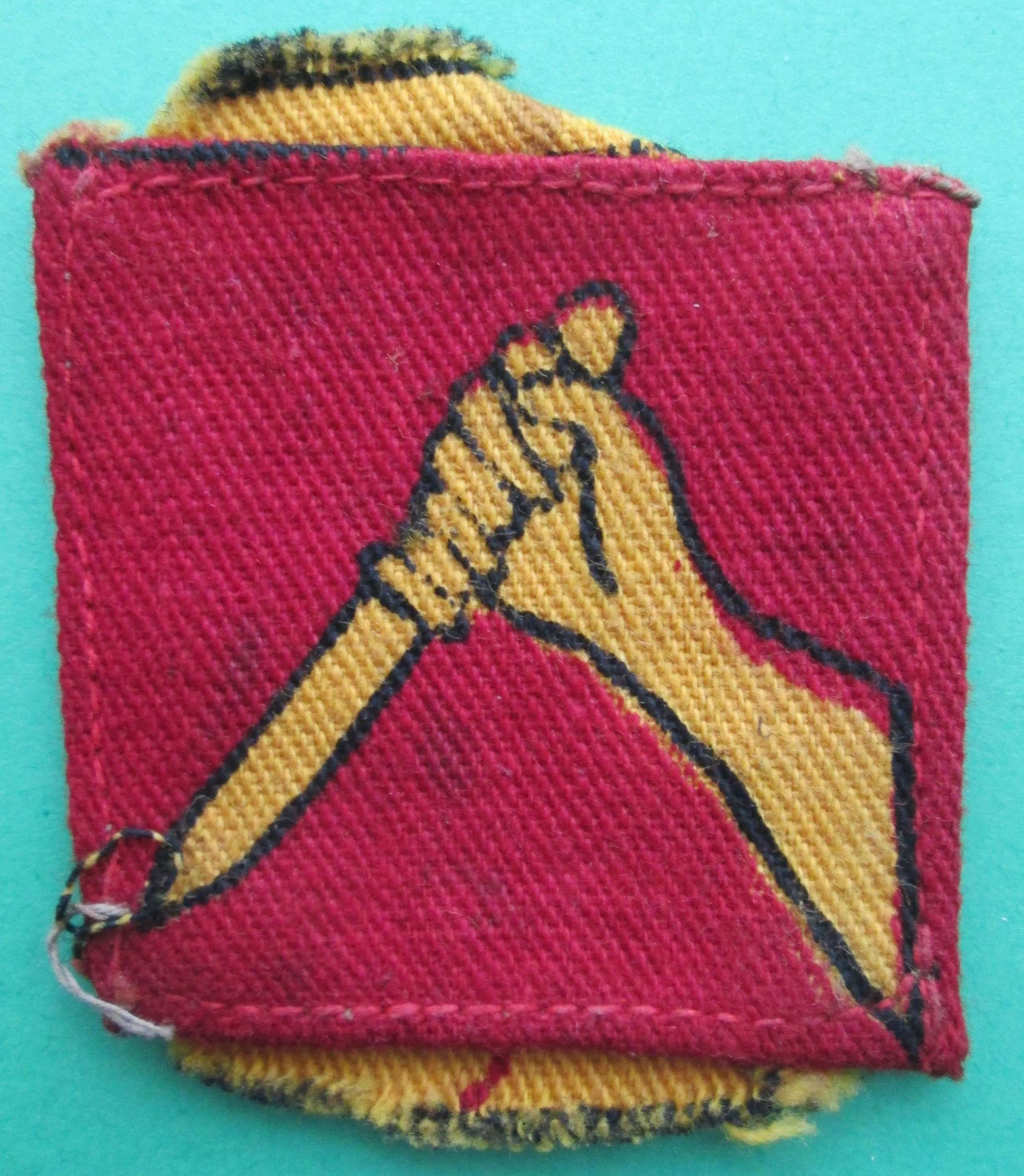 A WWII 19TH INDIAN DIVISION SIGN
