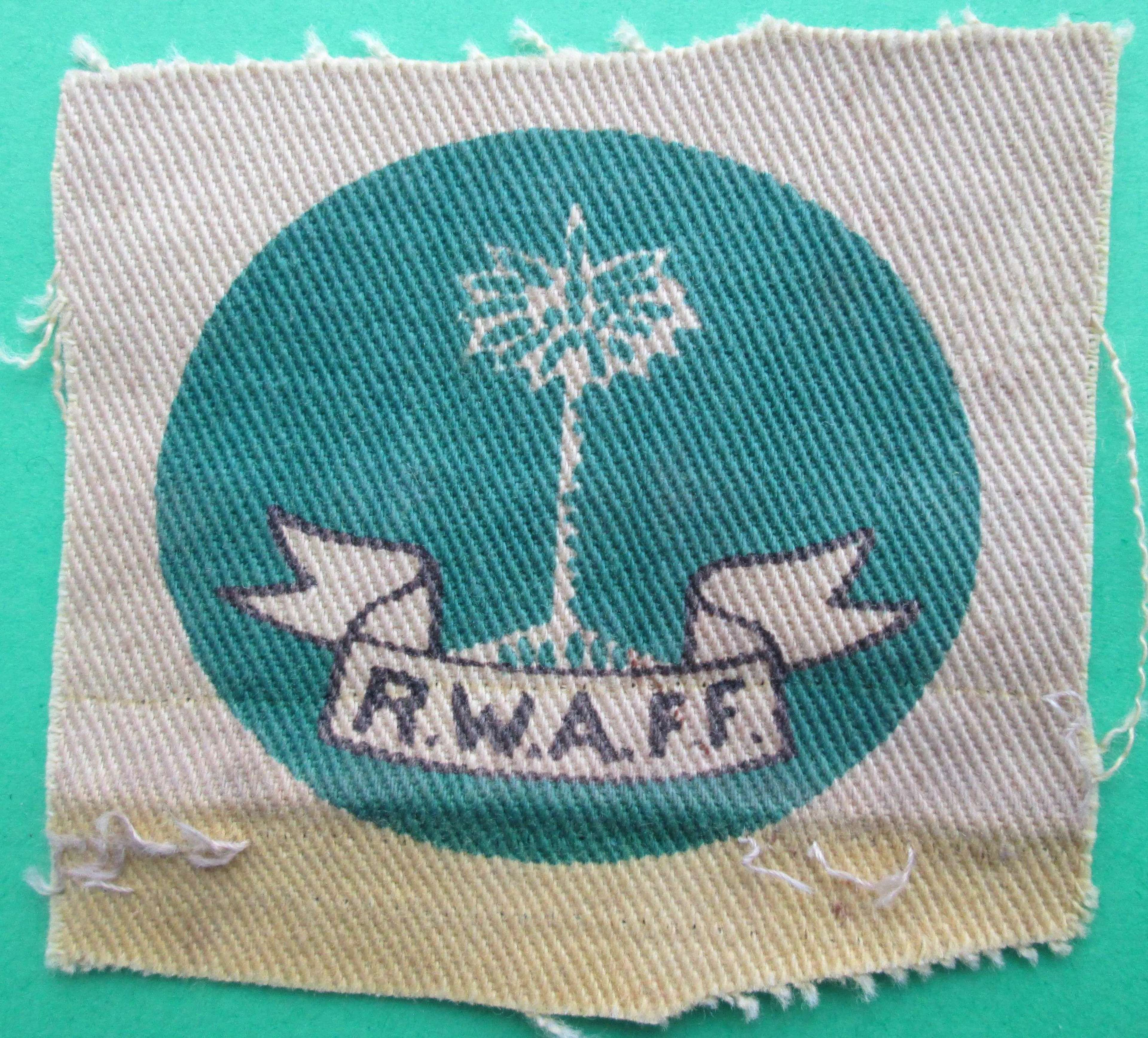 A WWII PERIOD ROYAL WEST AFRICAN FRONTIER FORMATION SIGN