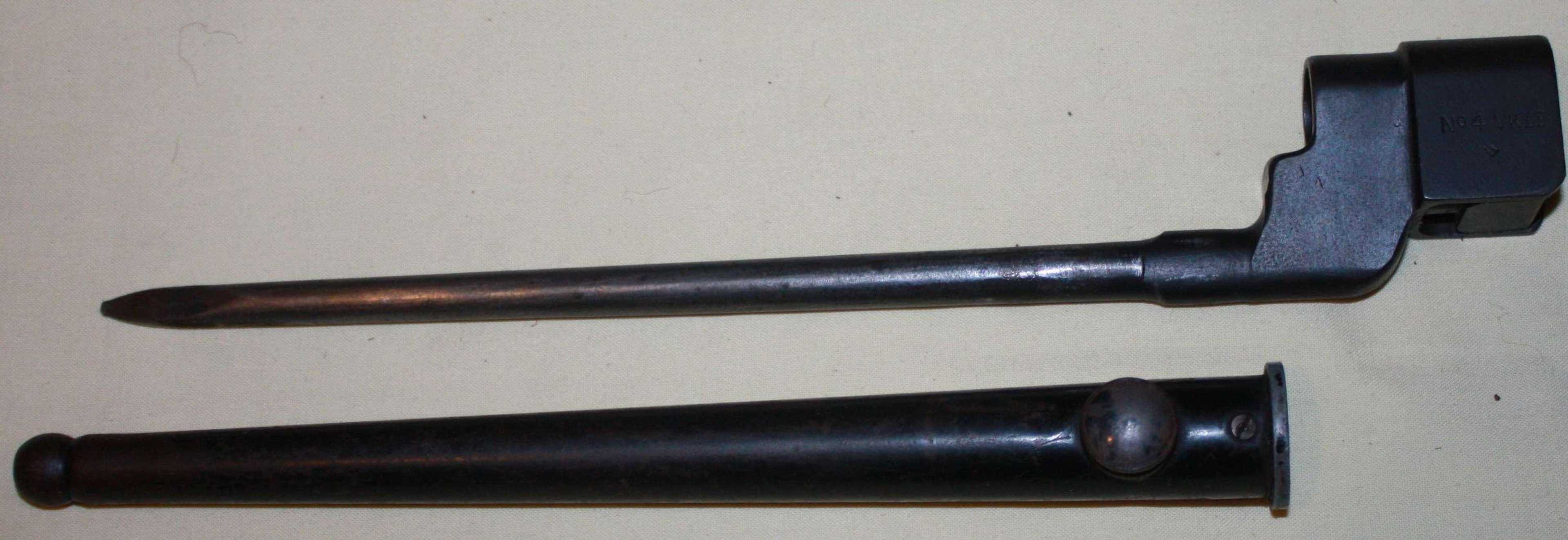 A WWII US MADE LONG BRANCH SPIKE BAYONET